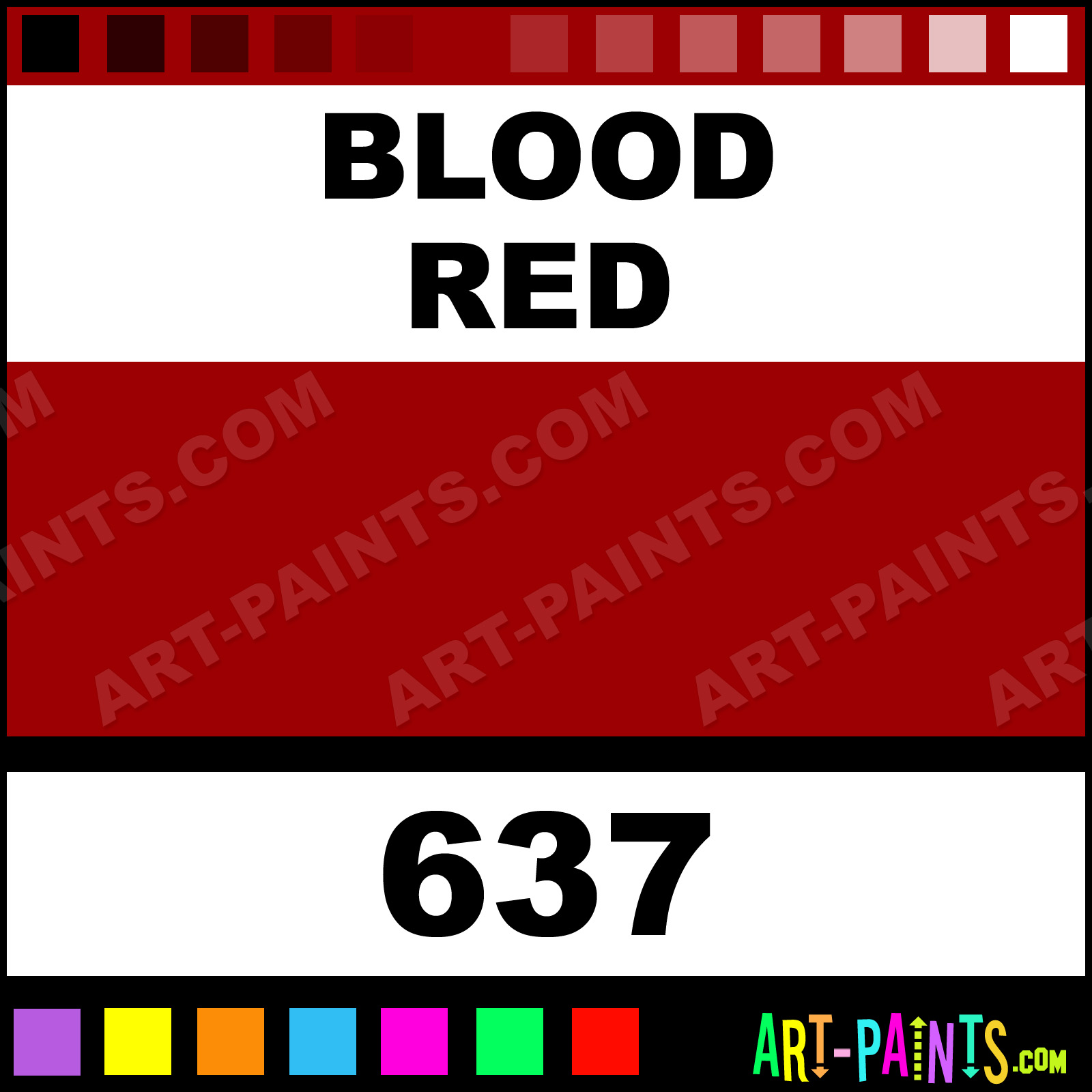Blood Red Paint