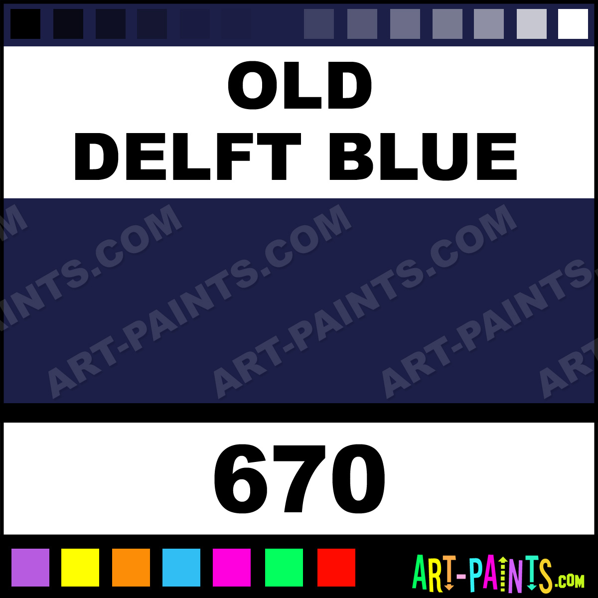 Old Delft Blue Classic Acrylic Paints 670 Old Delft