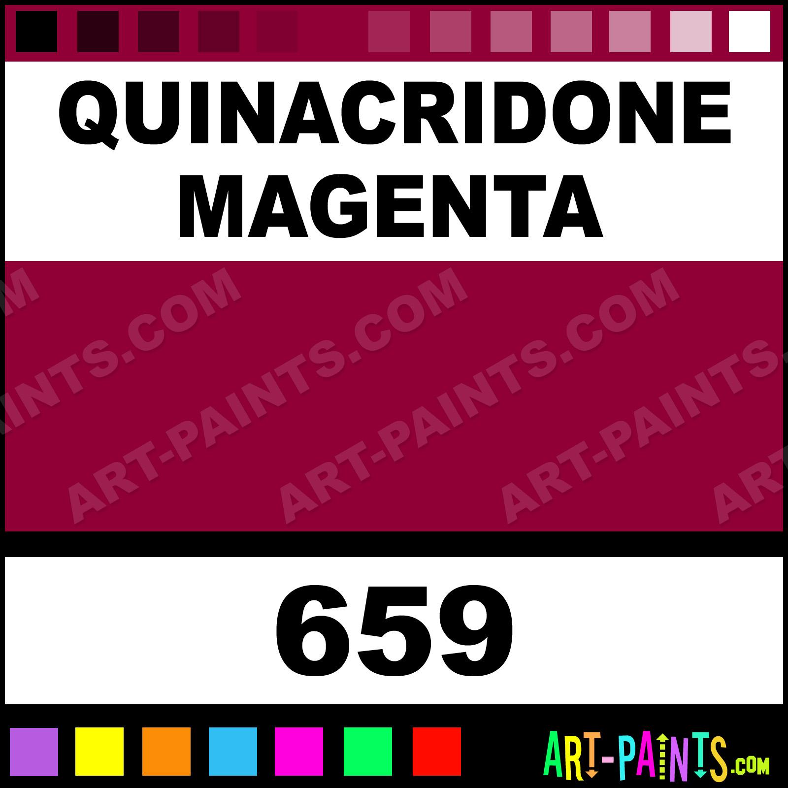 Quinacridone Magenta Acrylic Paint