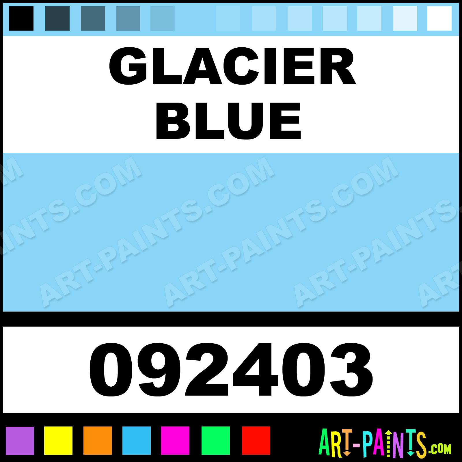 glacier blue natures hue acrylic paints - 092403