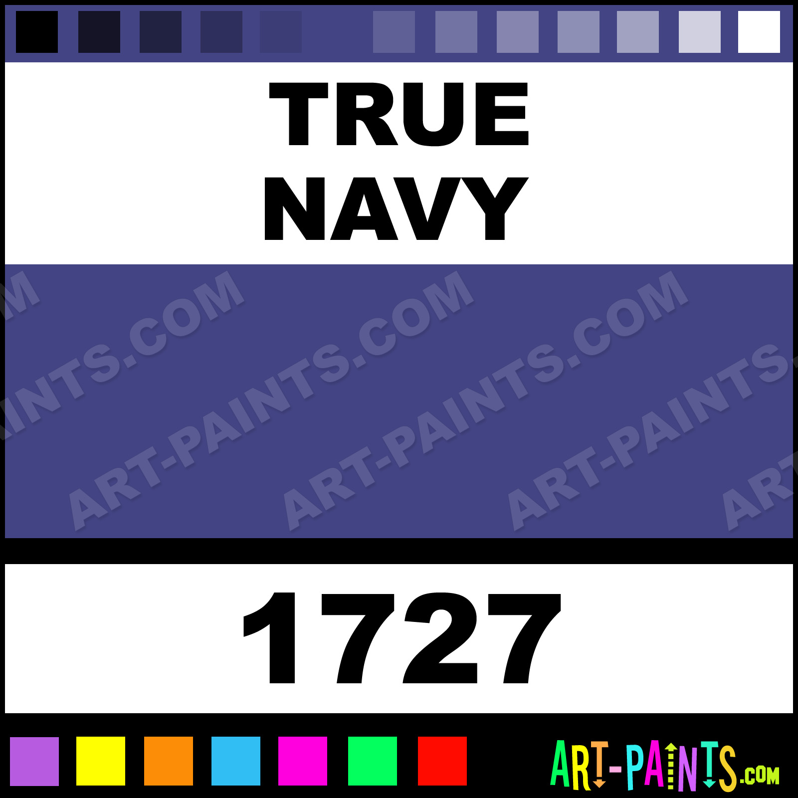 true navy color