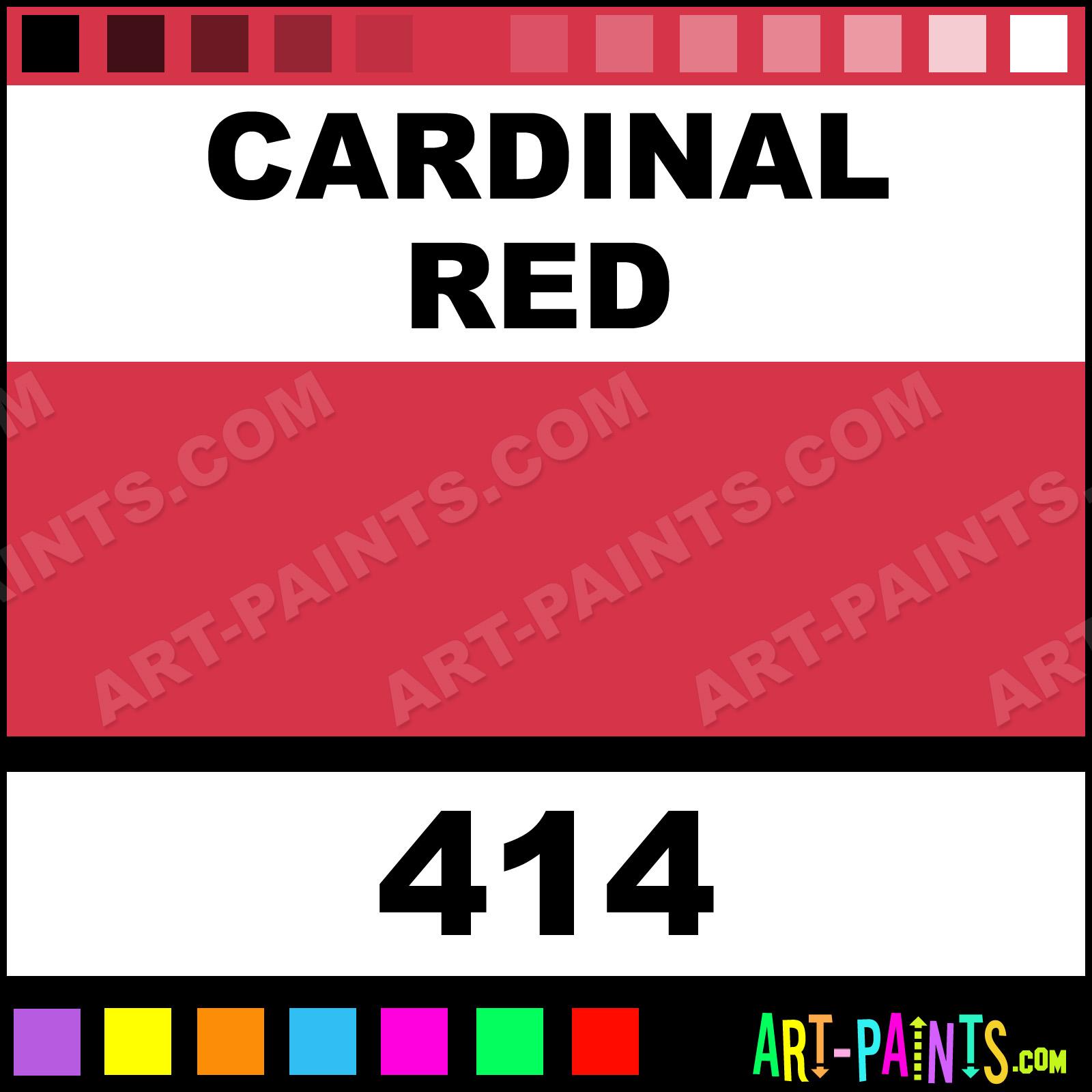 Folk art color chart acrylic paint - Cardinal Red Paint
