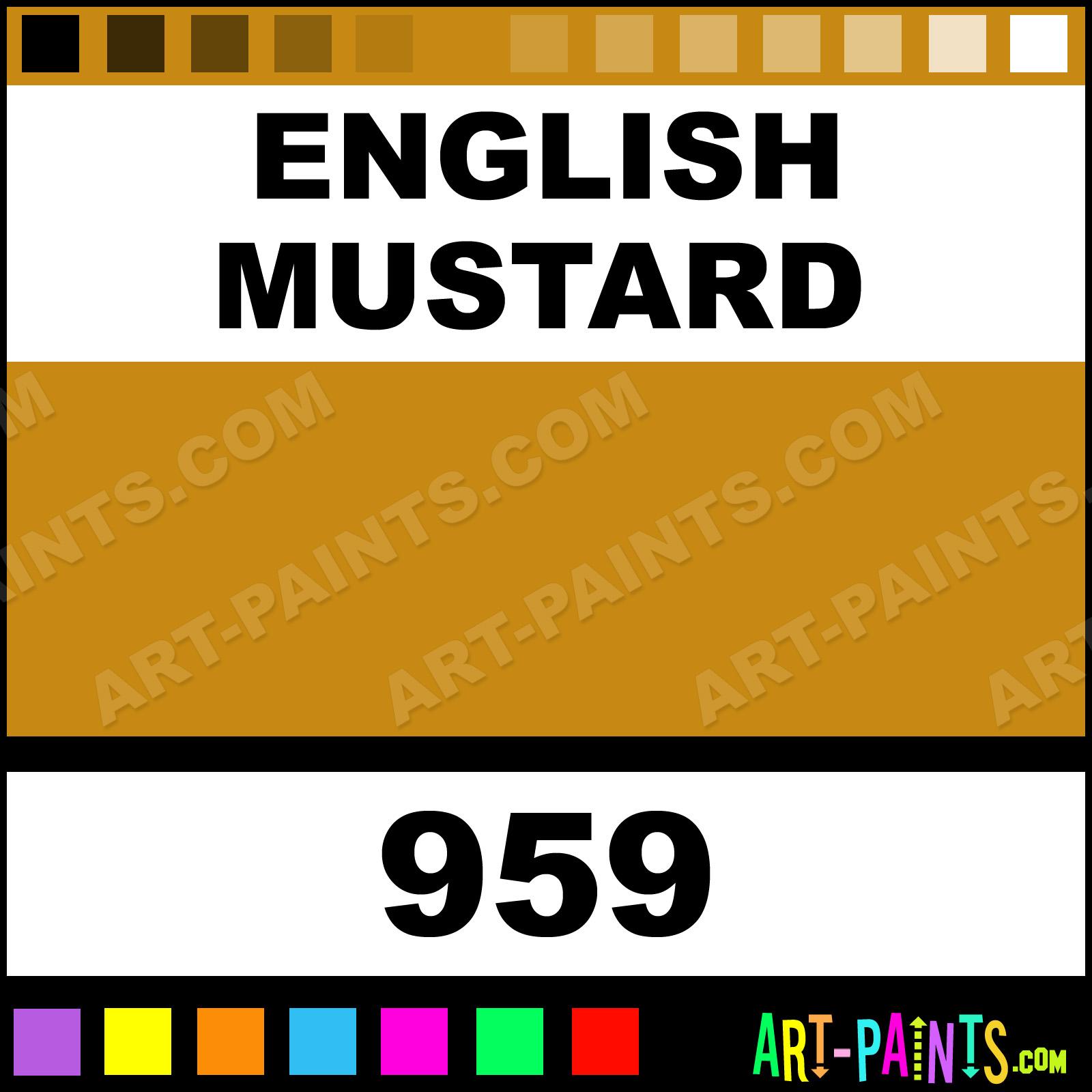 Folk art color chart acrylic paint - English Mustard Paint