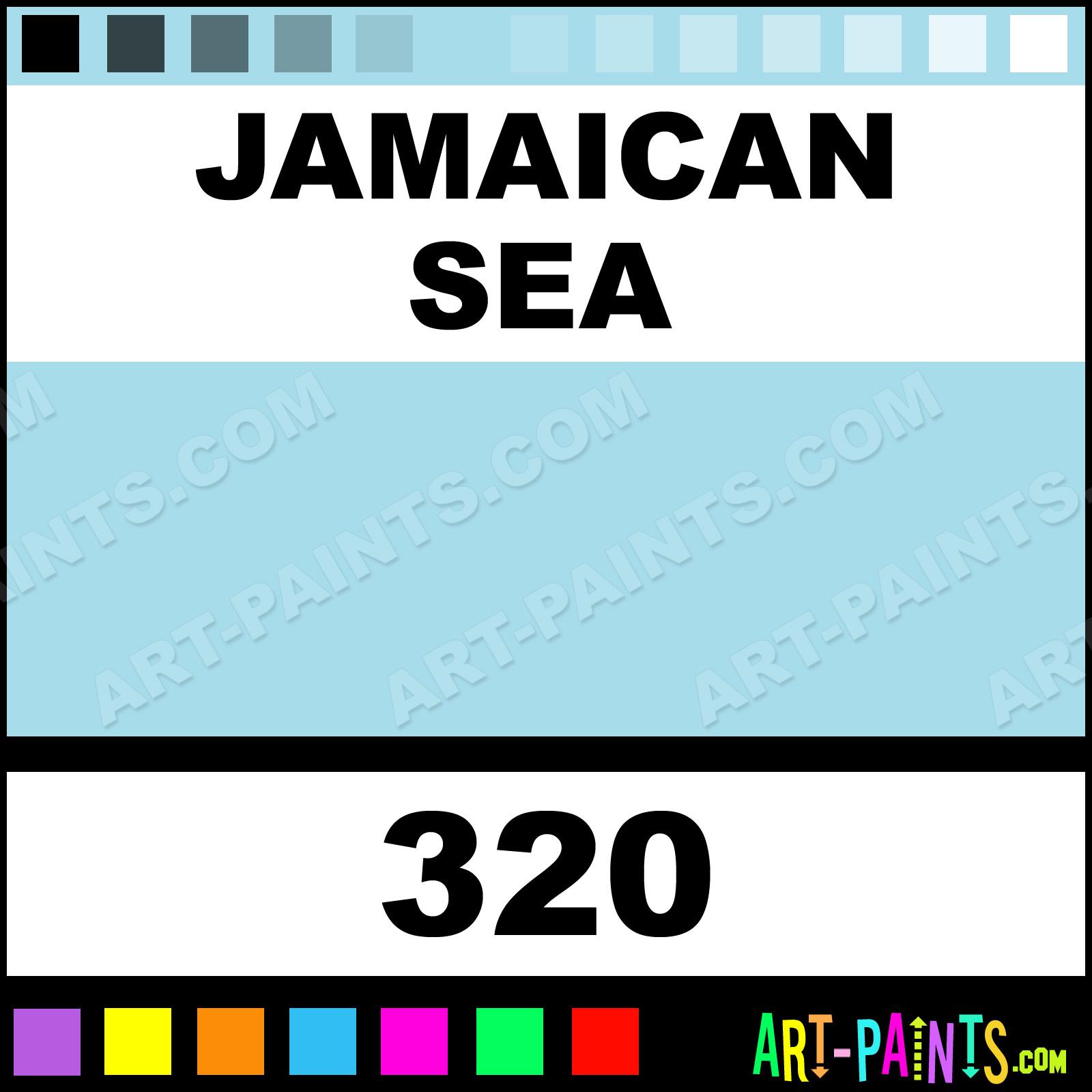 Folk art color chart acrylic paint - Jamaican Sea Jamaican Sea Paint