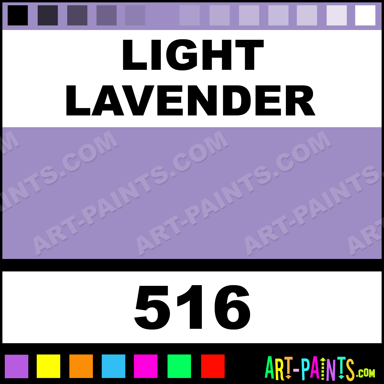 Folk art acrylic paint color chart - Light Lavender Light Lavender Paint