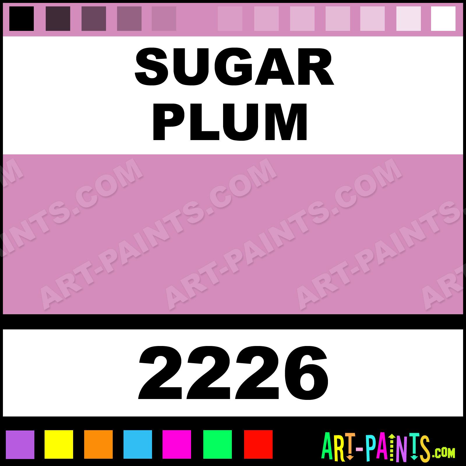 Folk art color chart acrylic paint - Sugar Plum Sugar Plum Paint