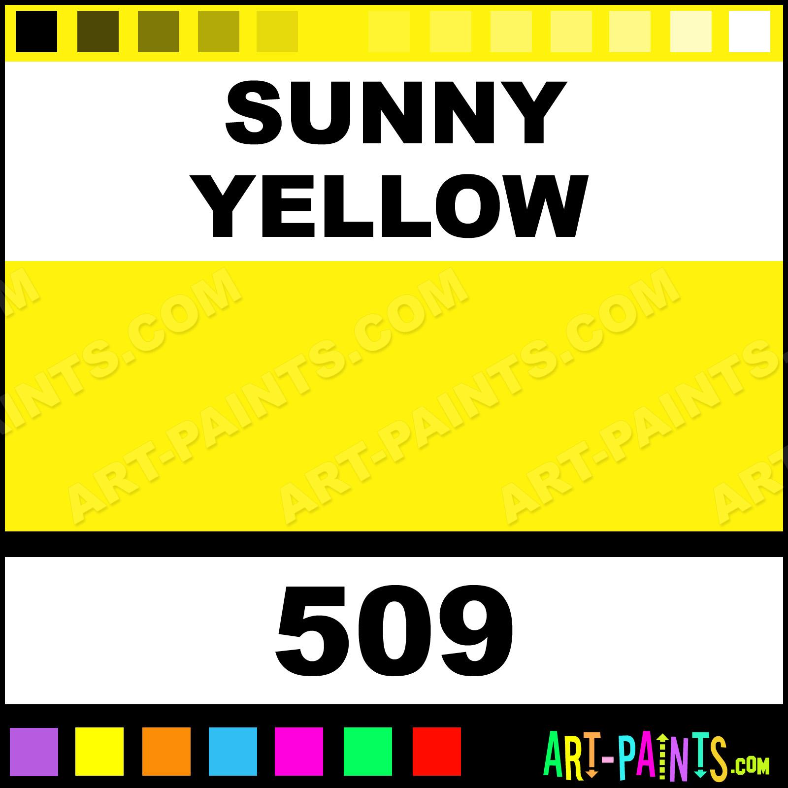 Folk art color chart acrylic paint - Sunny Yellow Sunny Yellow Paint