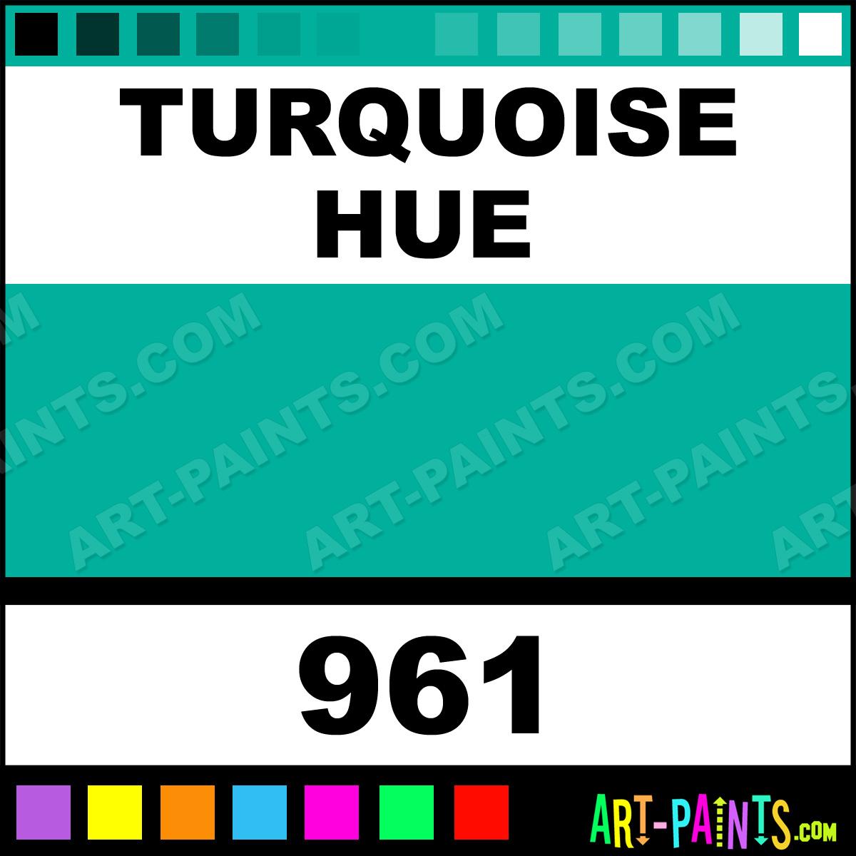 Folk art acrylic paint color chart - Turquoise Paint