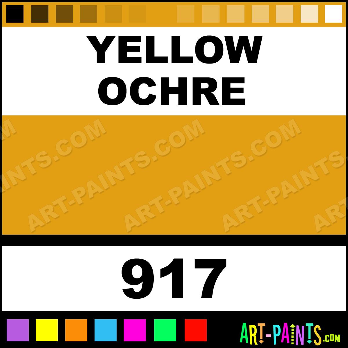 Folk art acrylic paint color chart - Yellow Ochre Paint
