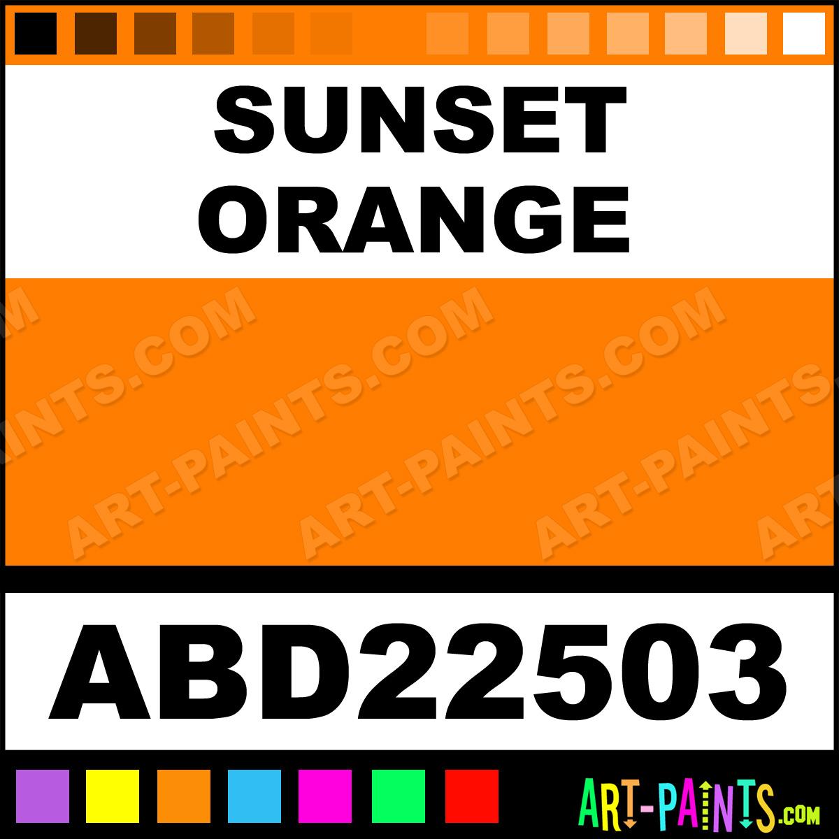 Sunset Orange Adirondack Acrylic Paints Abd22503