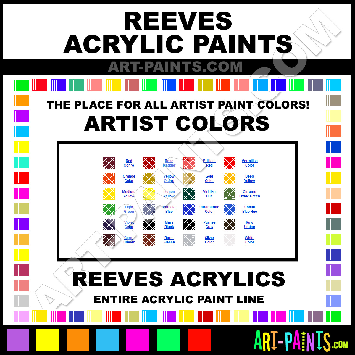 Artist Paint Colors Reeves Artist Paints