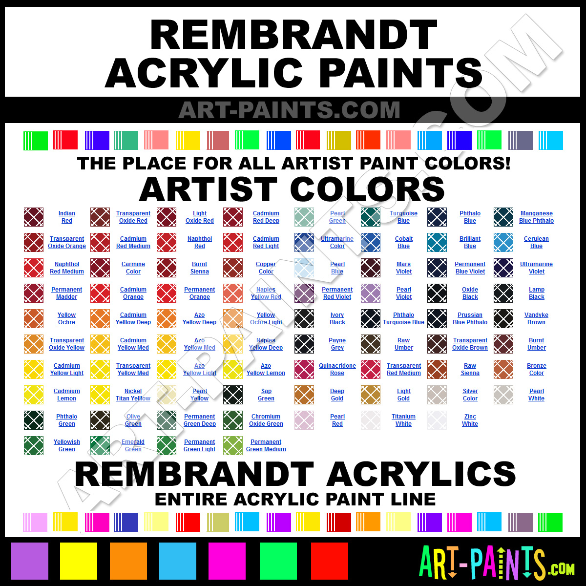 Artist Paint Colors Rembrandt Artist Paints
