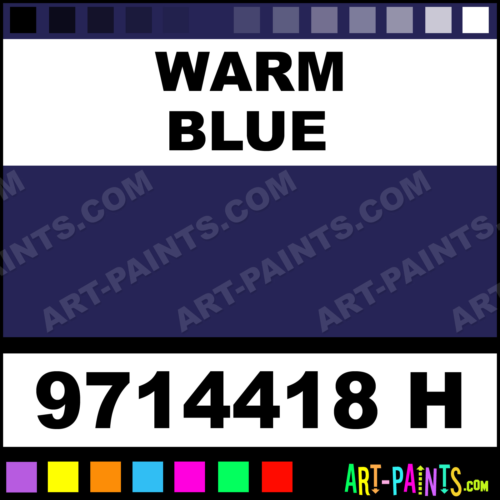 Choosing the paint colour for any direction room angela bunt - Warm Blue School Acrylic Paints 9714418 H Warm Blue Paint
