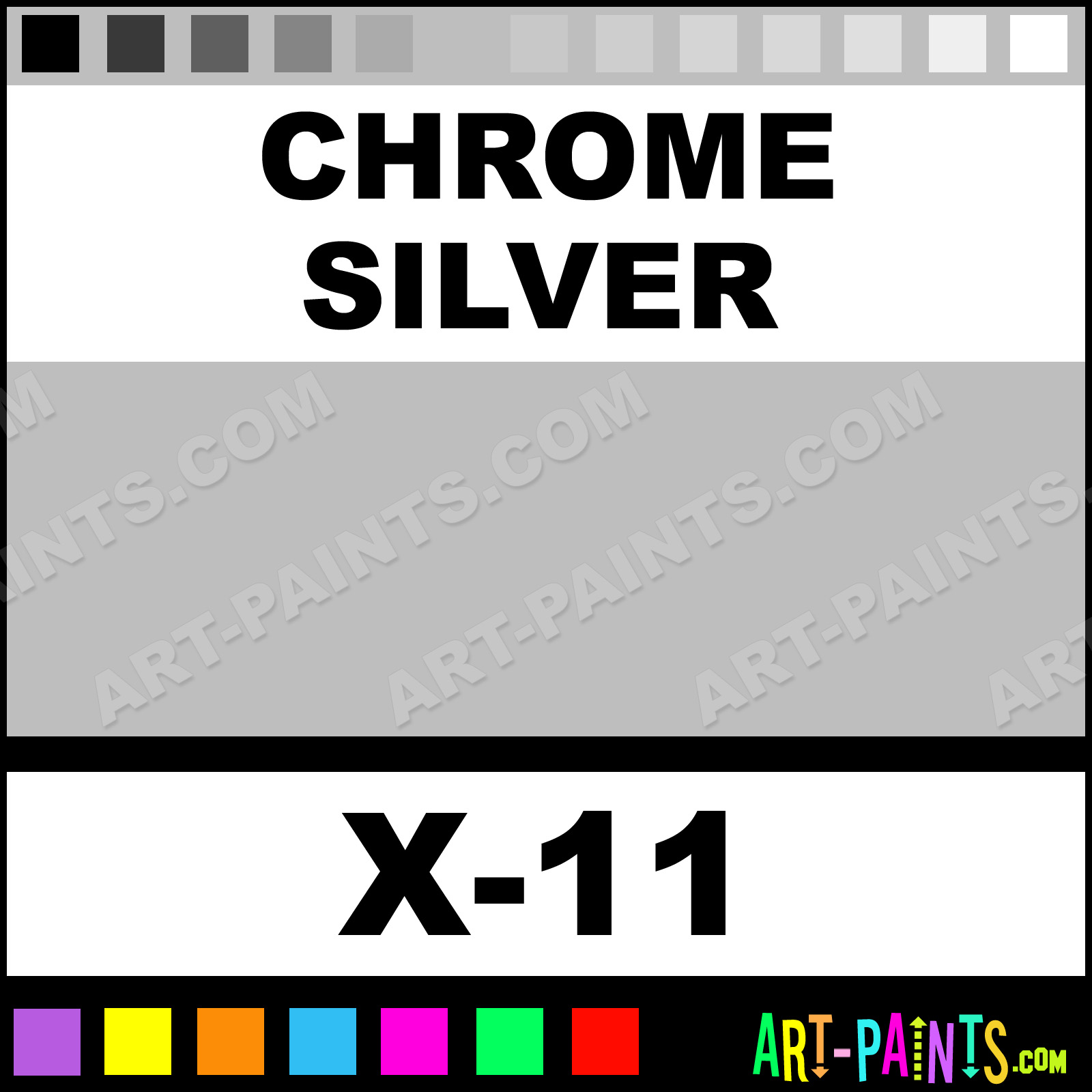 Chrome silver color acrylic paints x 11 chrome silver paint chrome silver color acrylic paints x 11 chrome silver paint chrome silver color tamiya color paint bebebe art paints geenschuldenfo Gallery