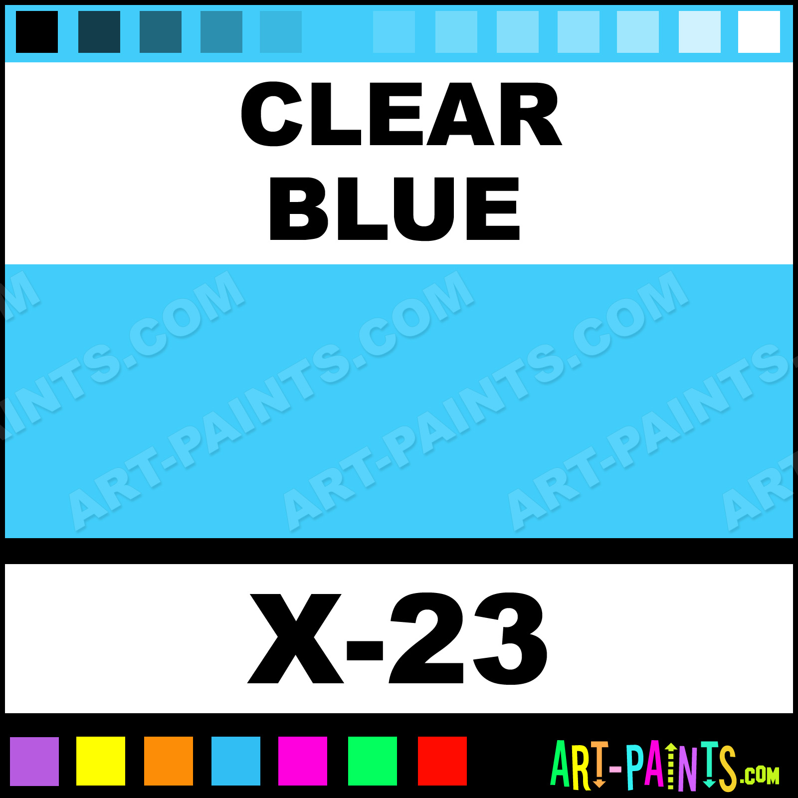 Clear Blue Paint