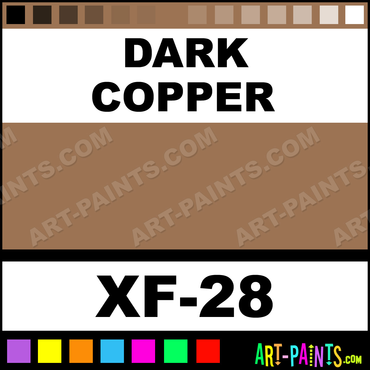 Dark Copper Color Acrylic Paints Xf 28 Dark Copper