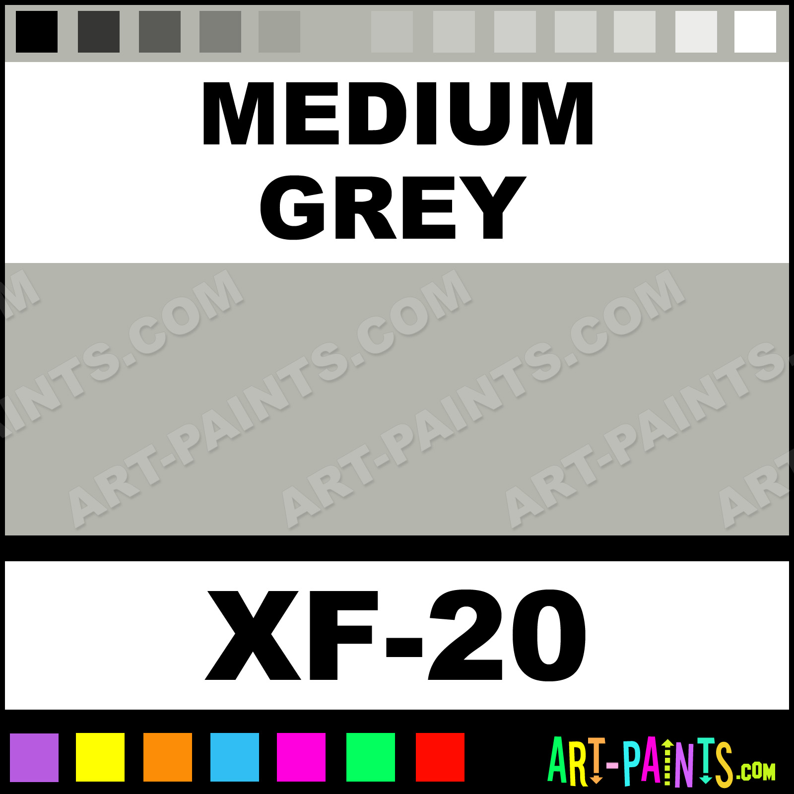 Medium Grey Color Acrylic Paints Xf 20 Medium Grey