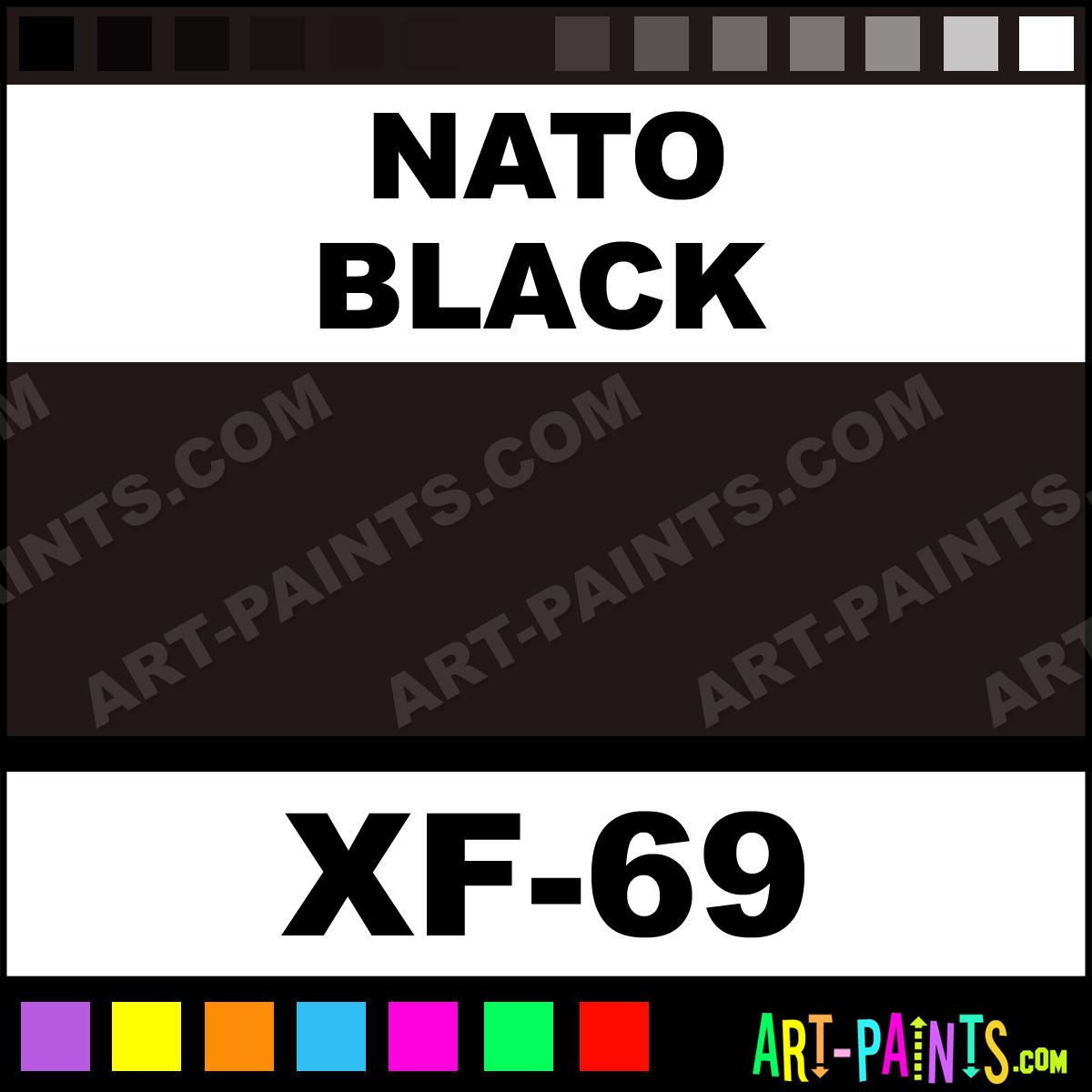 Nato Black Color Acrylic Paints Xf 69 Nato Black Paint