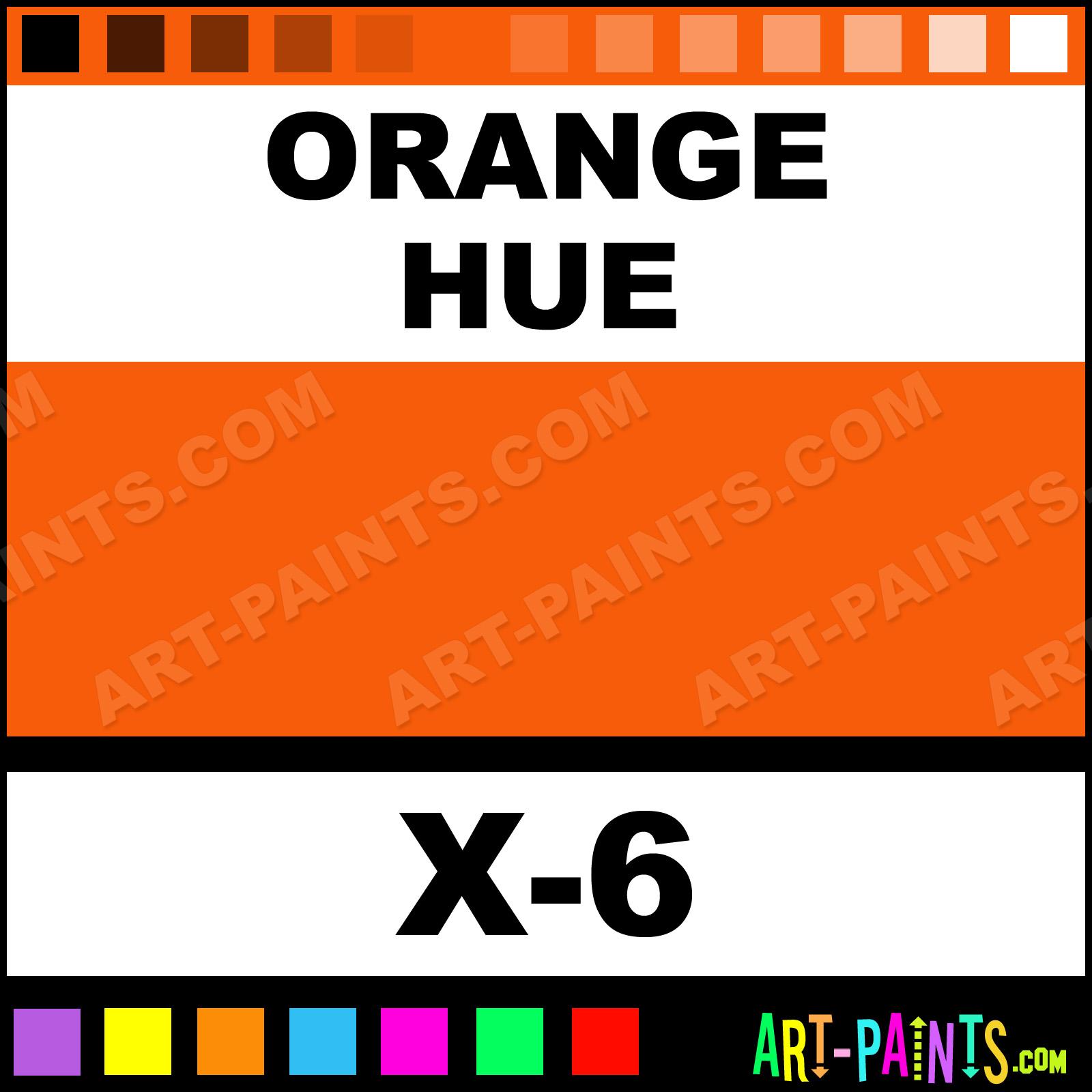 Orange Color Acrylic Paints X 6 Paint Tamiya F75b08 Art