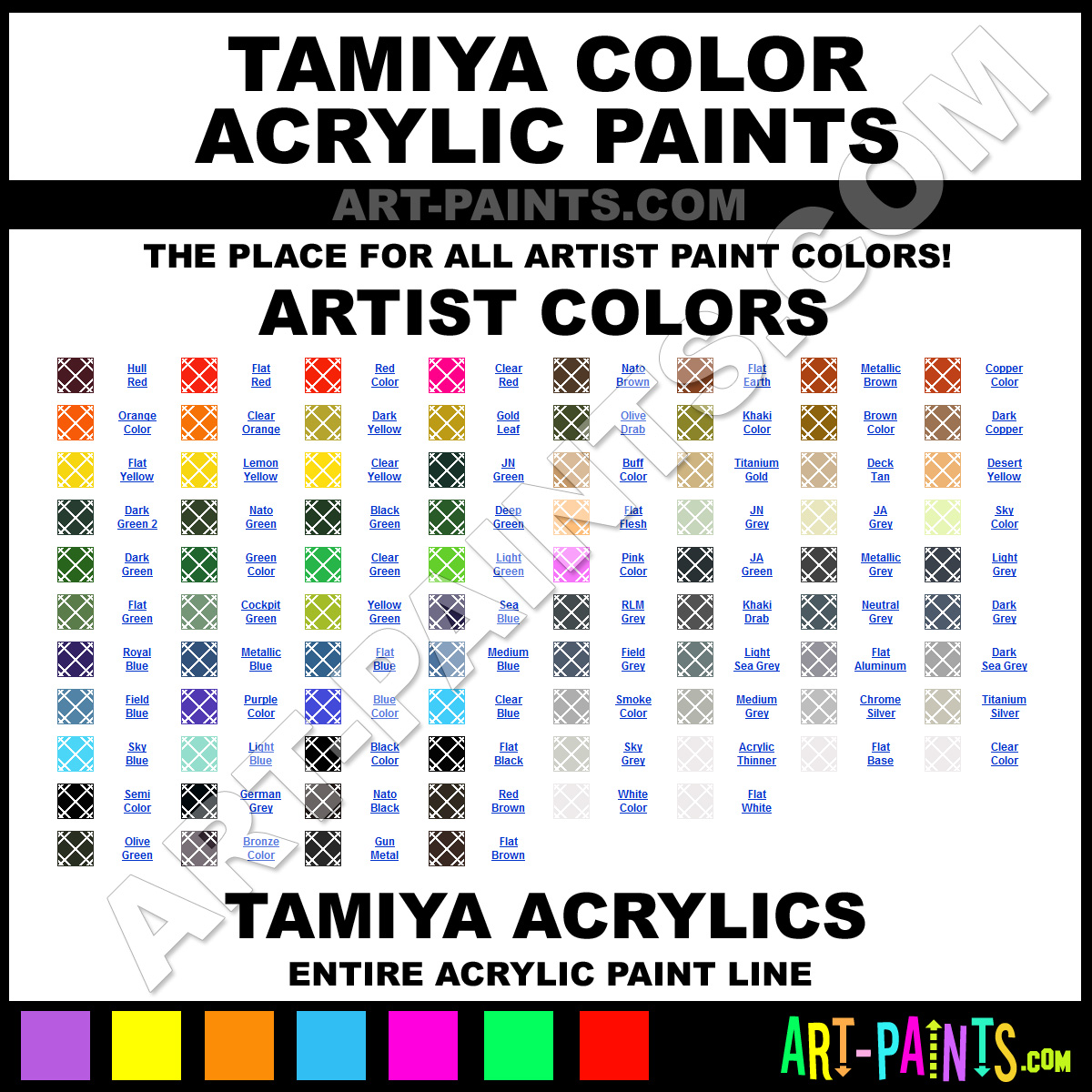 Tamiya Color Paints