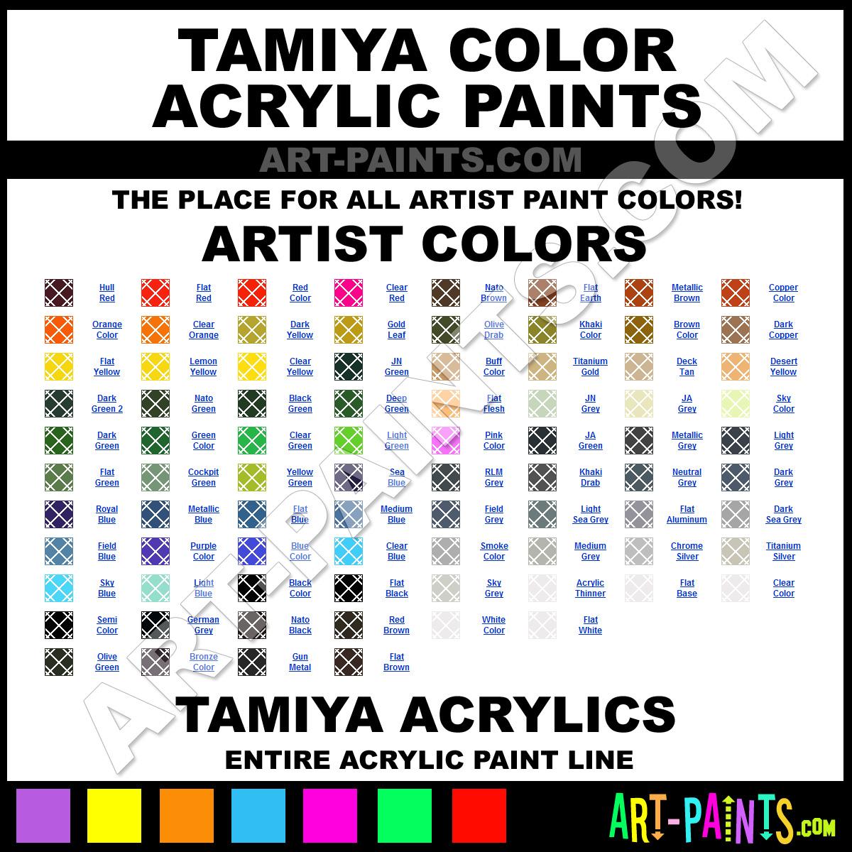 Tamiya Acrylics Tamiya Color