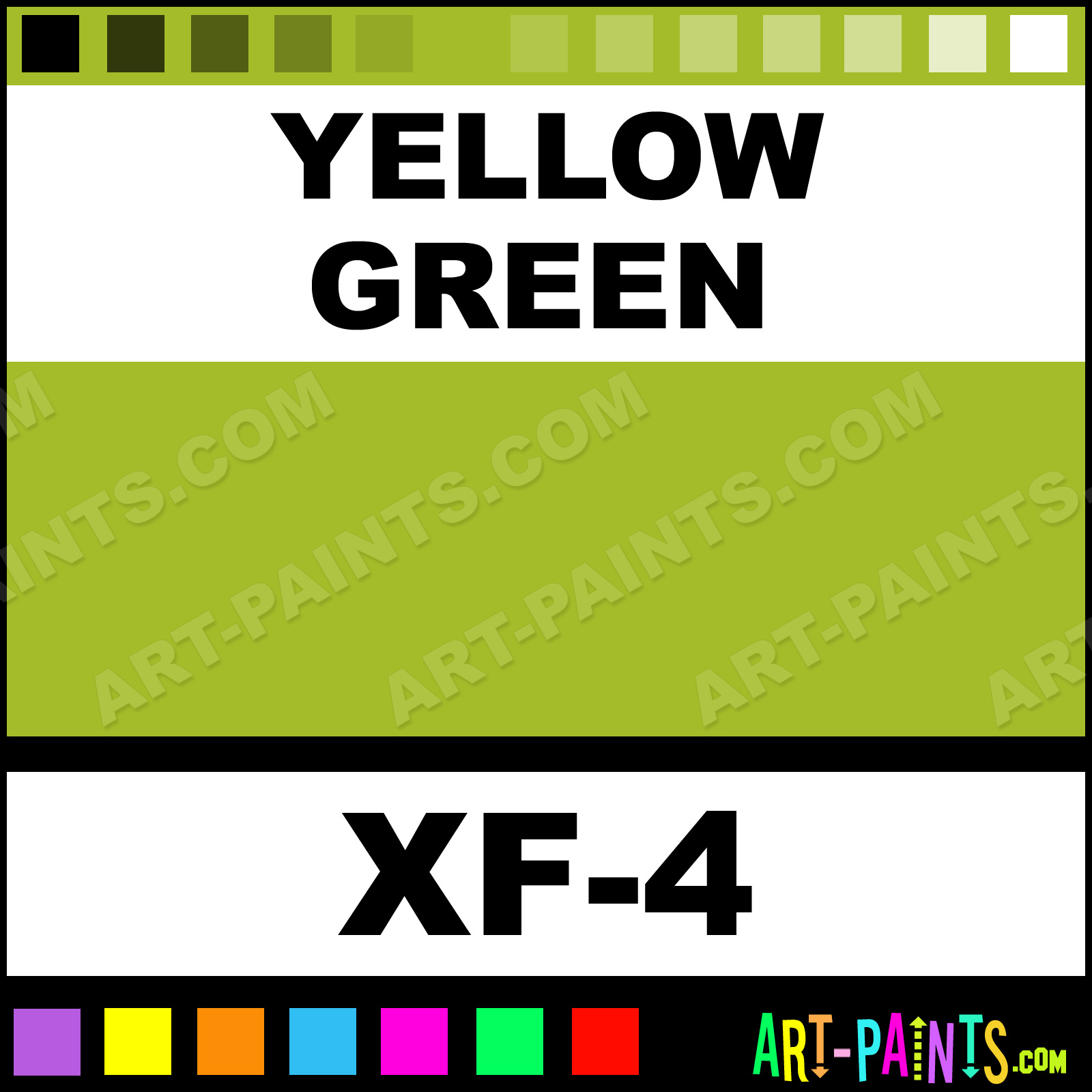 Yellow Green Color Acrylic Paints - XF-4 - Yellow Green Paint ...