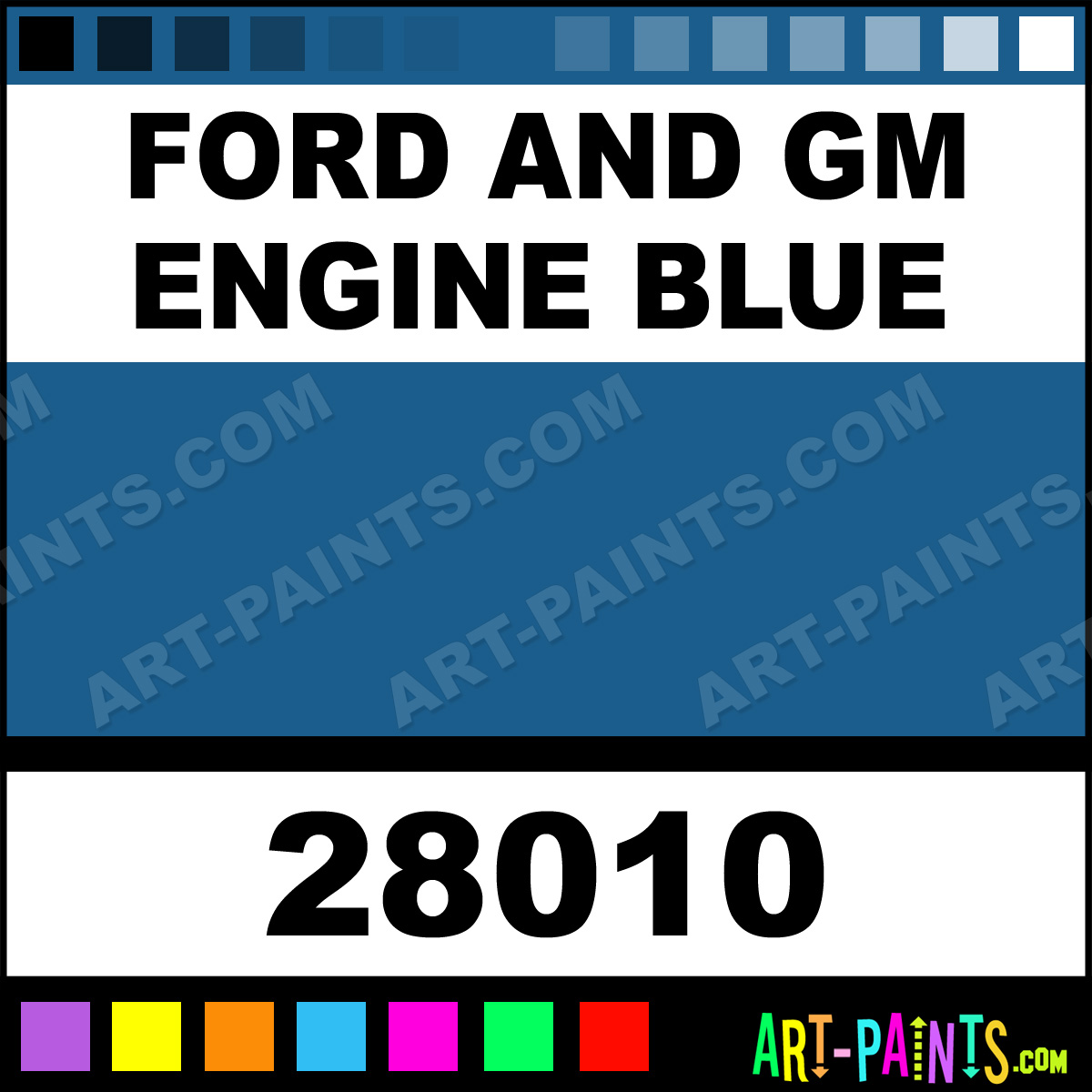 Ford And Gm Engine Blue Model Master Acrylic Paints 28010 Ford And Gm Engine Blue Paint