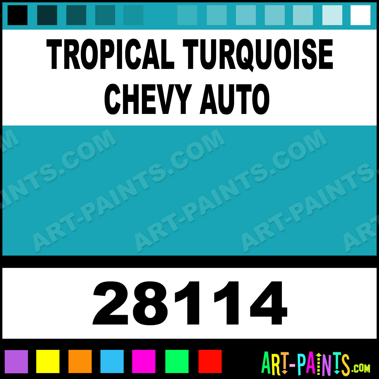 Tropical Turquoise Chevy Auto Model Master Acrylic Paints
