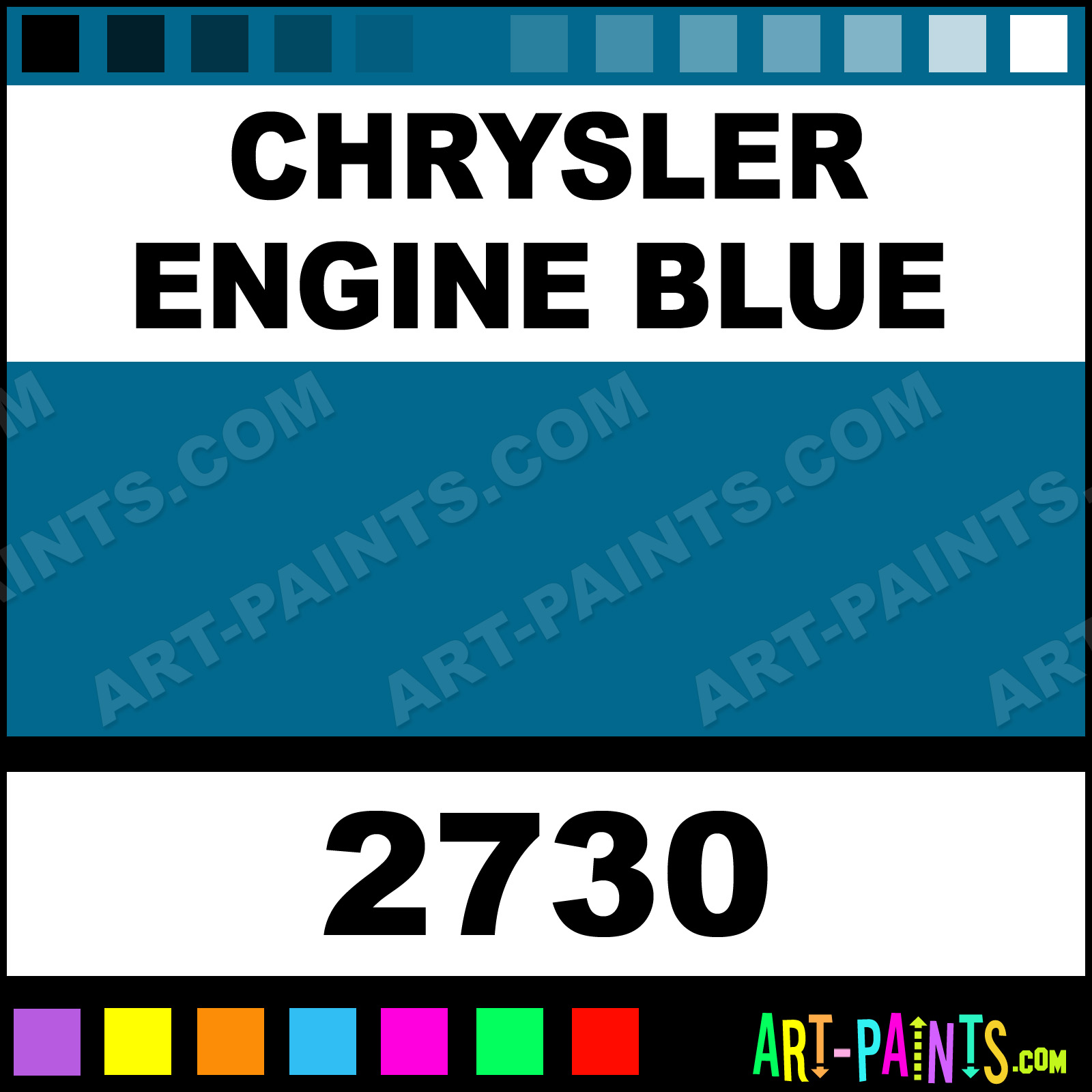 Chrysler Engine Blue Model Acrylic Paints 2730