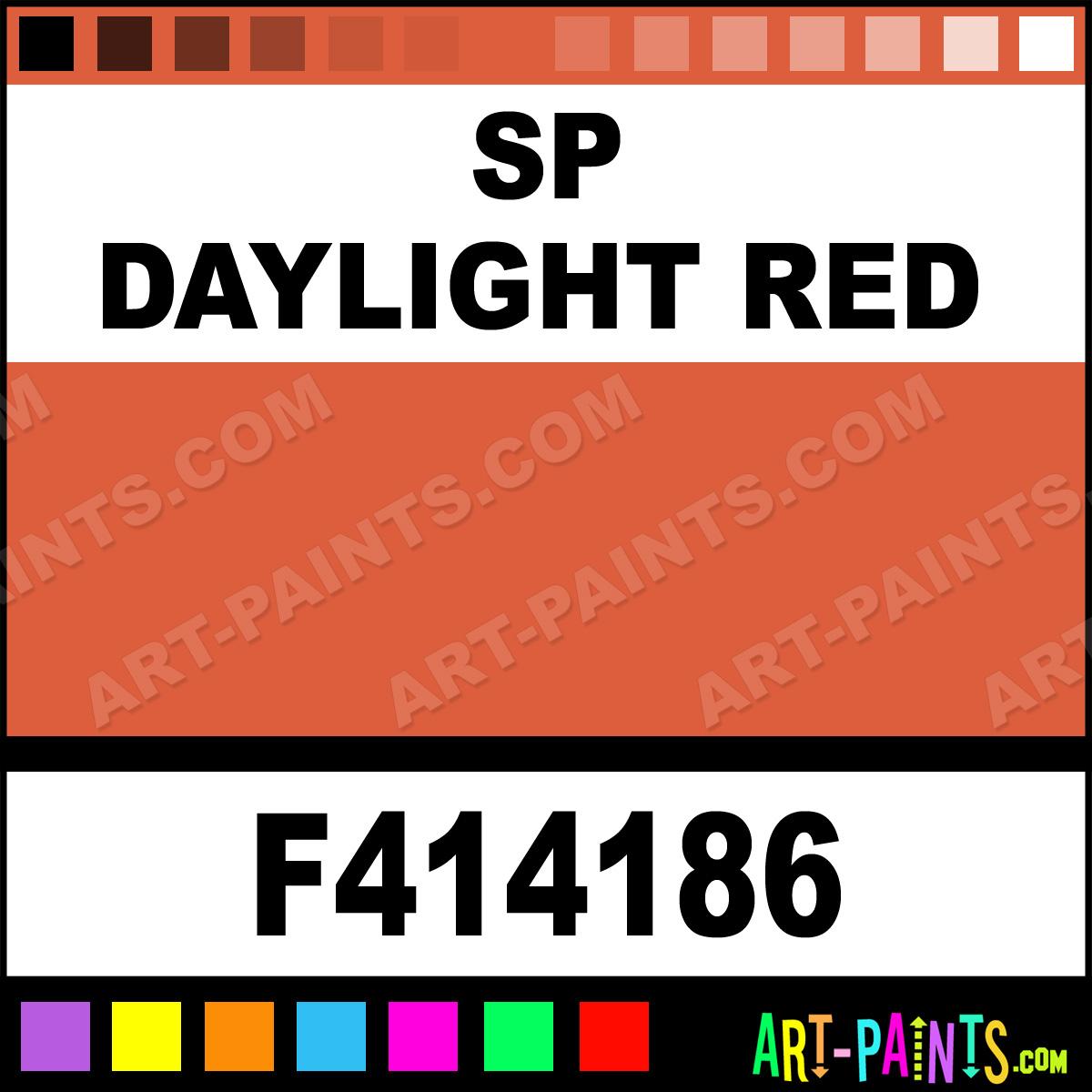 SP Daylight Red Model Acrylic Paints - F414186 - SP ...