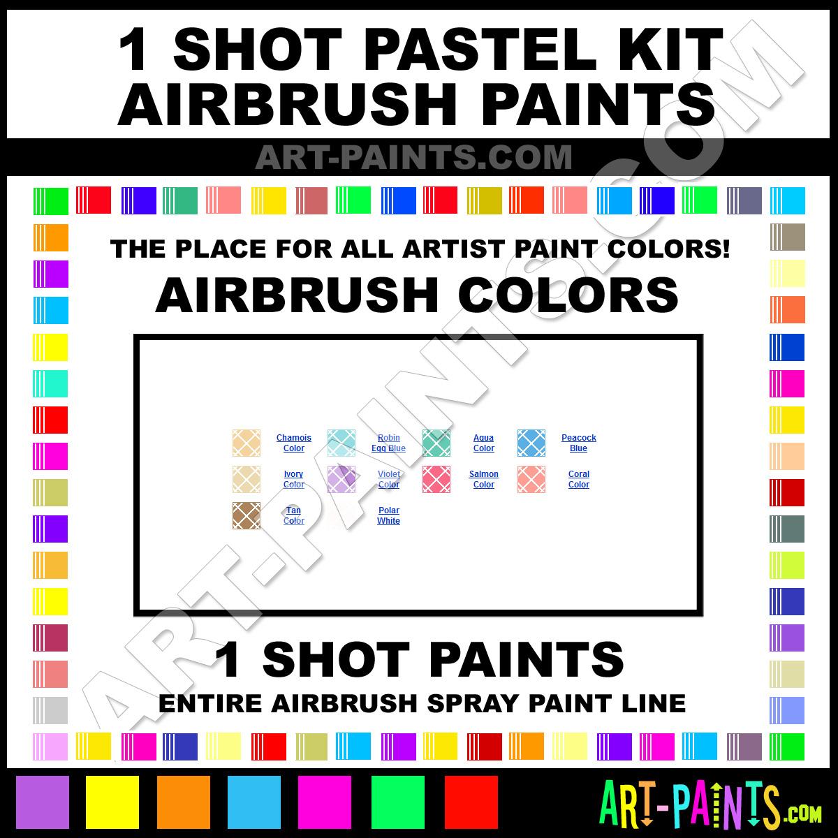 Coral Paint Color Chart Coral Pastel Kit Airbrush Spray Paints Pastel Coral Paint