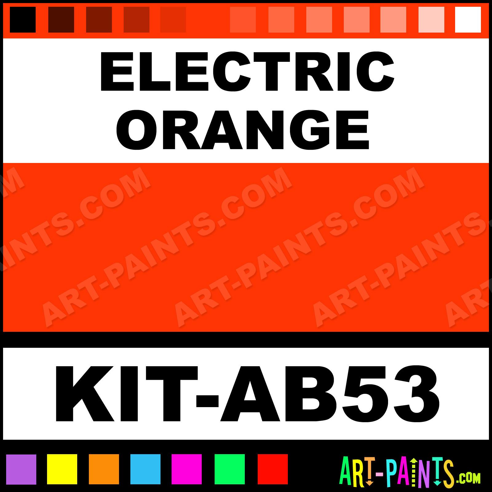 Electric Orange Paint