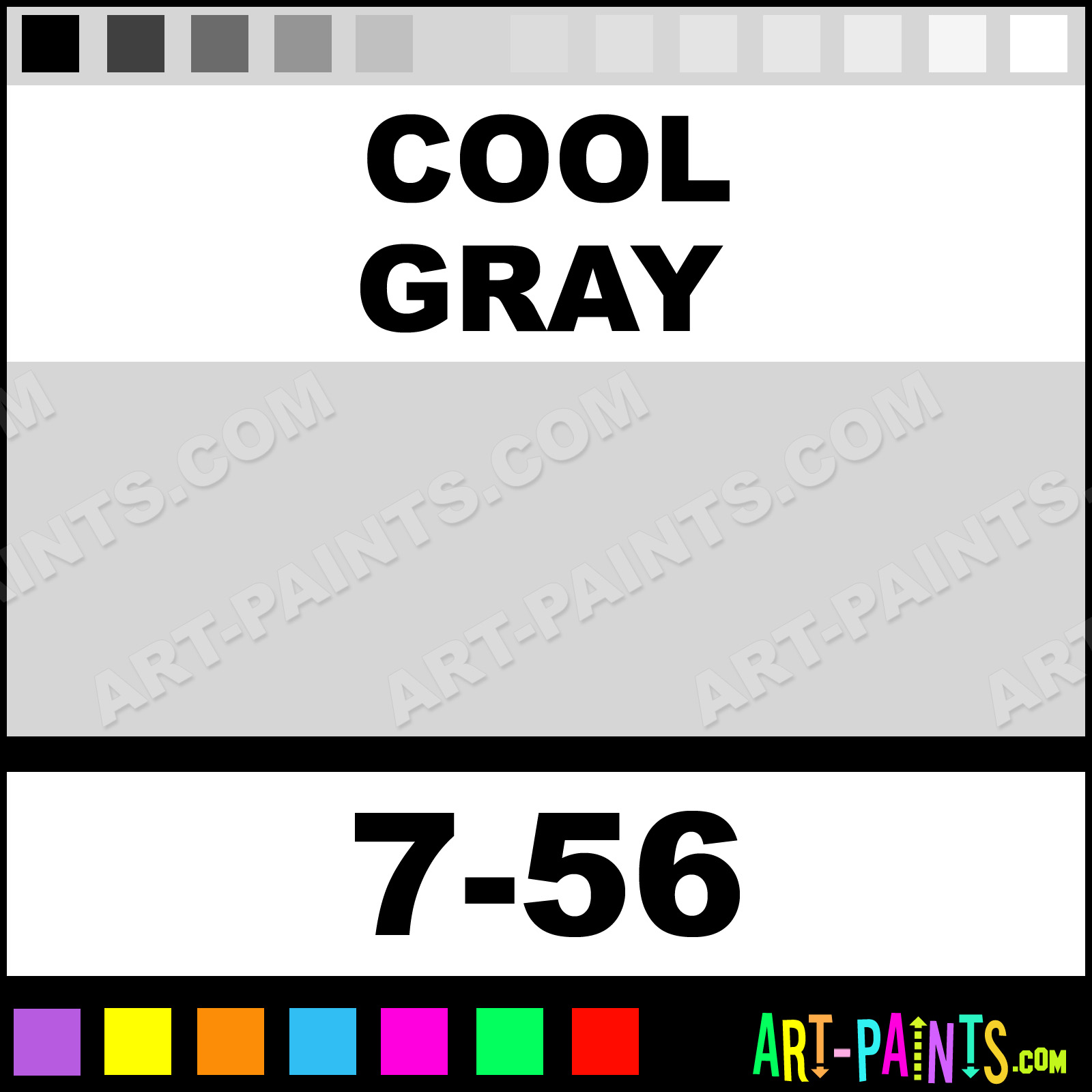 Cool Gray Air Opaque Airbrush Spray Paints - 7-56 - Cool Gray ...