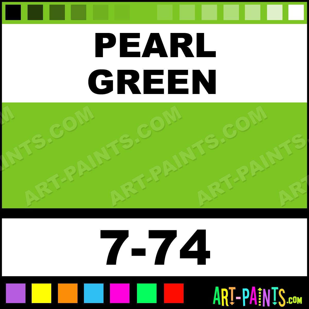 Pearl Green Air Opaque Airbrush Spray Paints 7 74