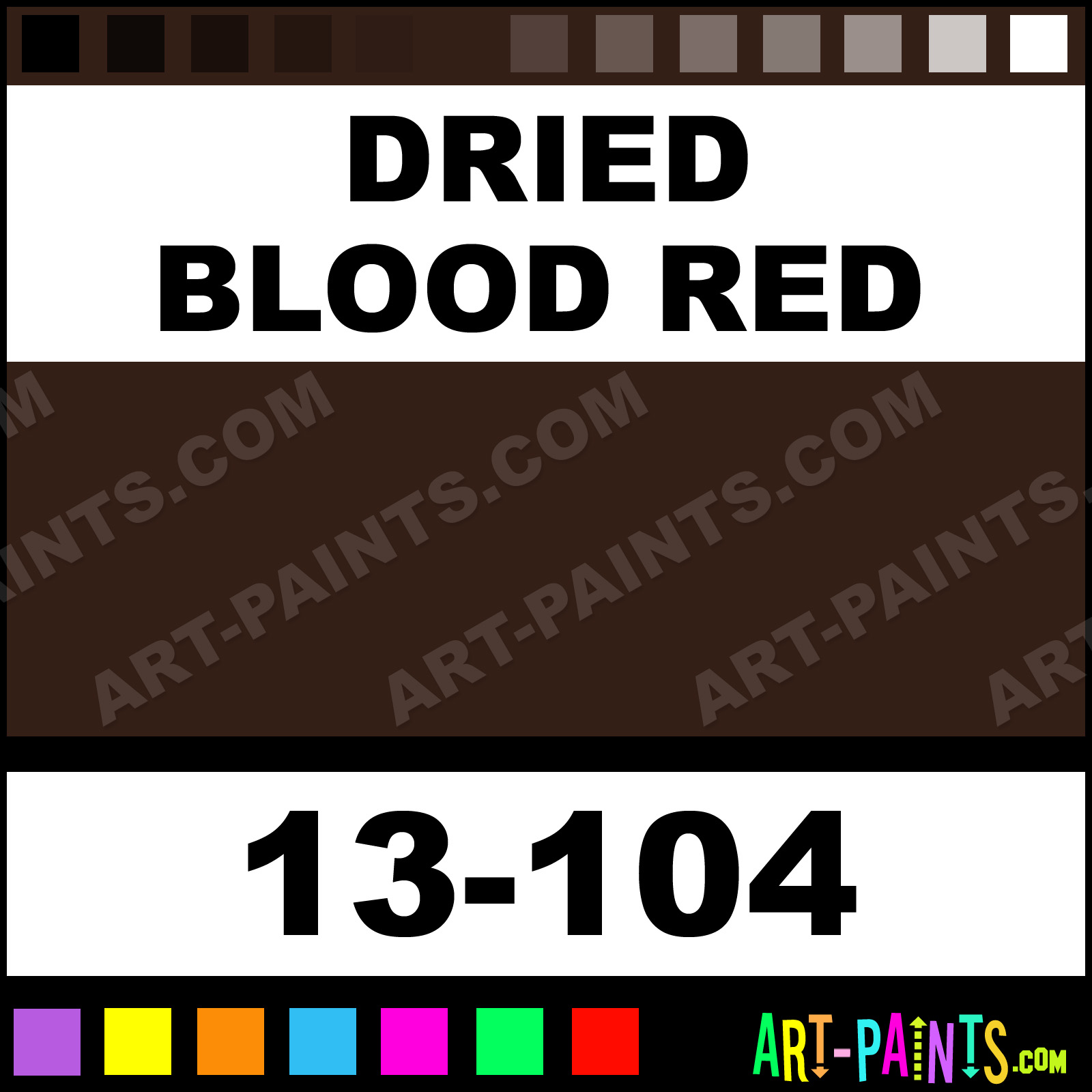 Dried Blood Red FreakFlex Airbrush Spray Paints - 13-104 - Dried ...