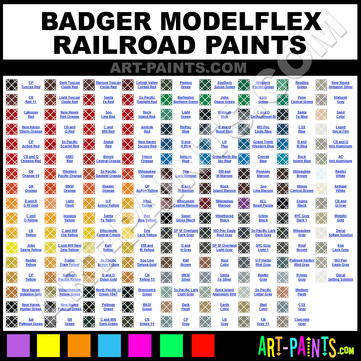 Badger Red Paint Color
