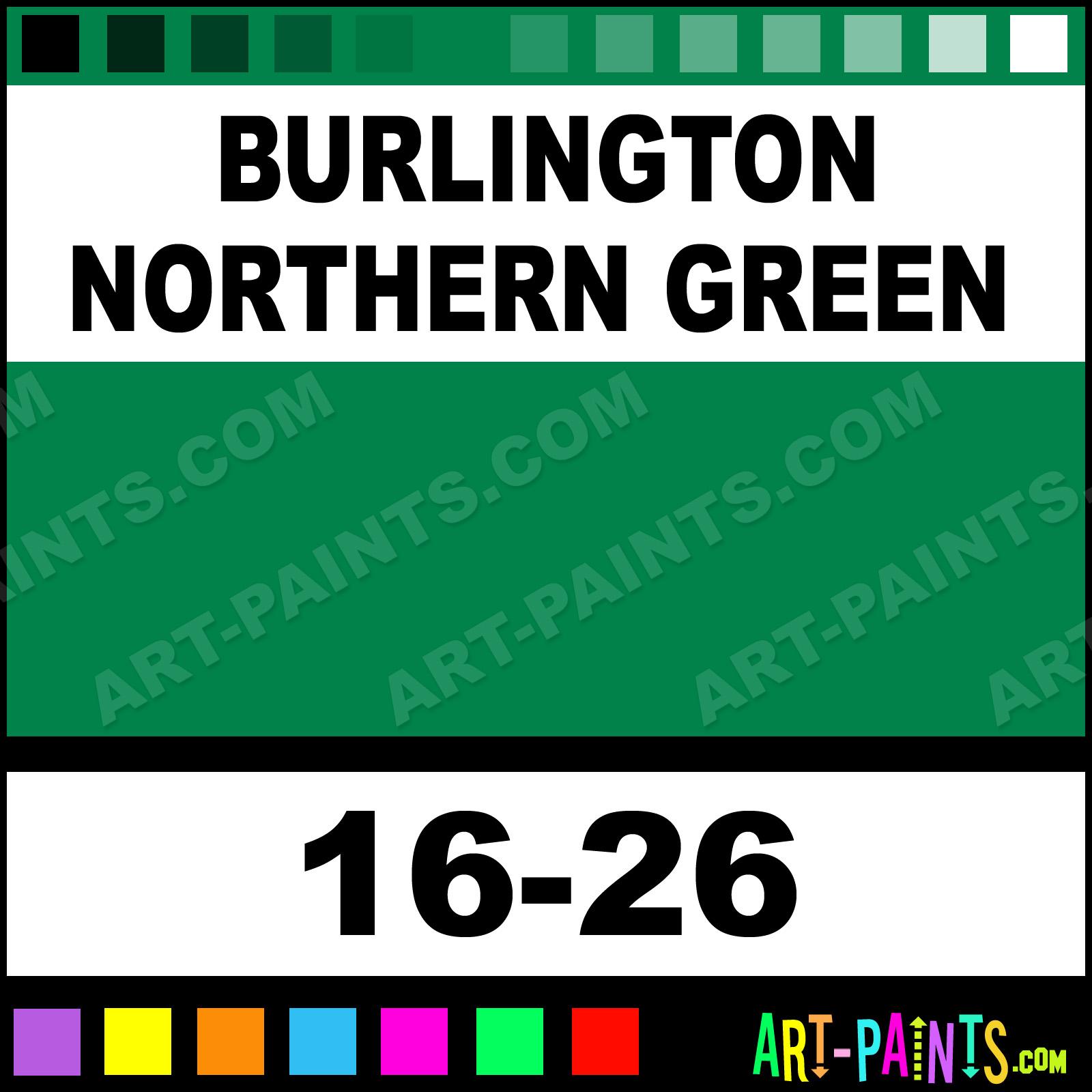 Burlington Northern Green ModelFlex Railroad Airbrush Spray