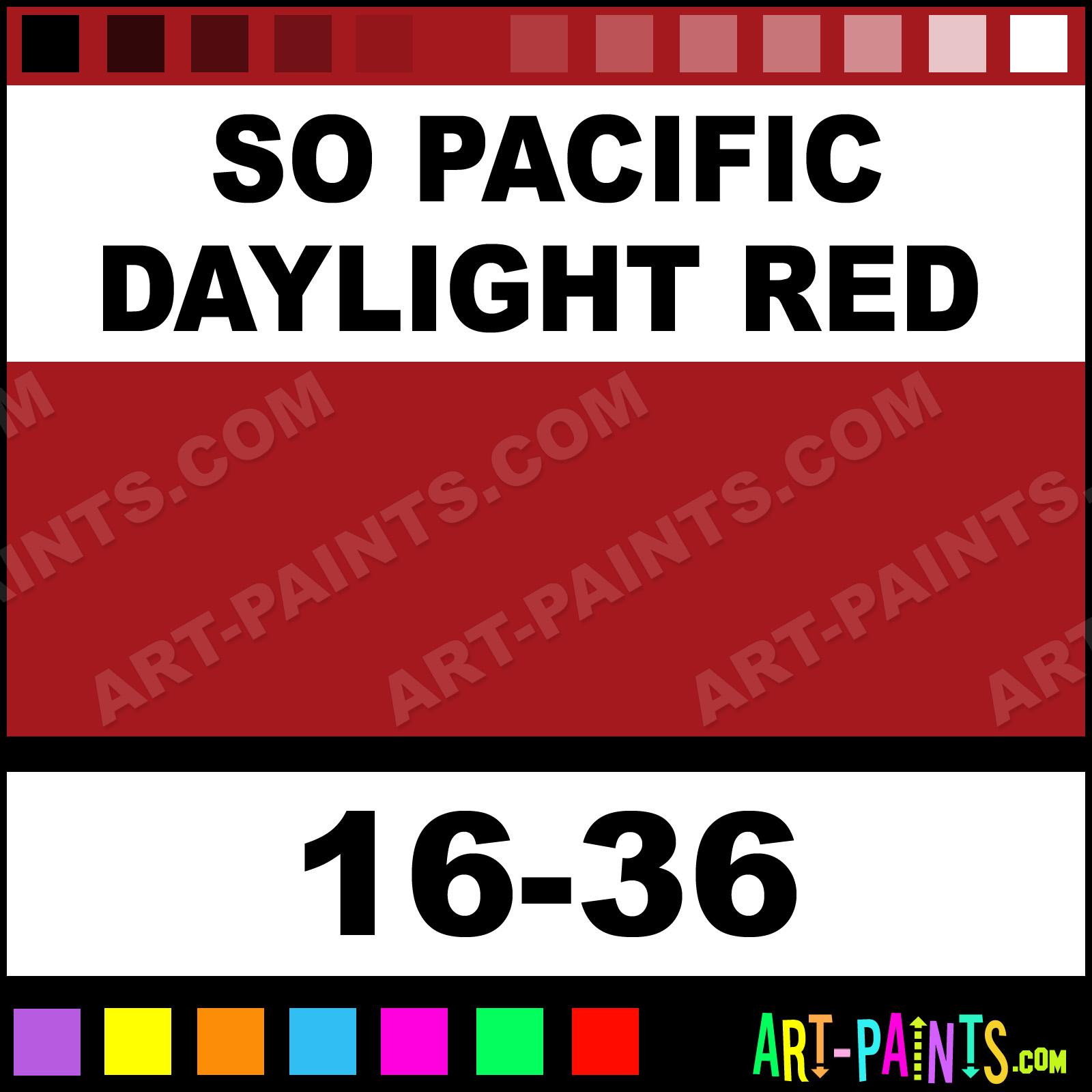 So Pacific Daylight Red ModelFlex Railroad Airbrush Spray ...