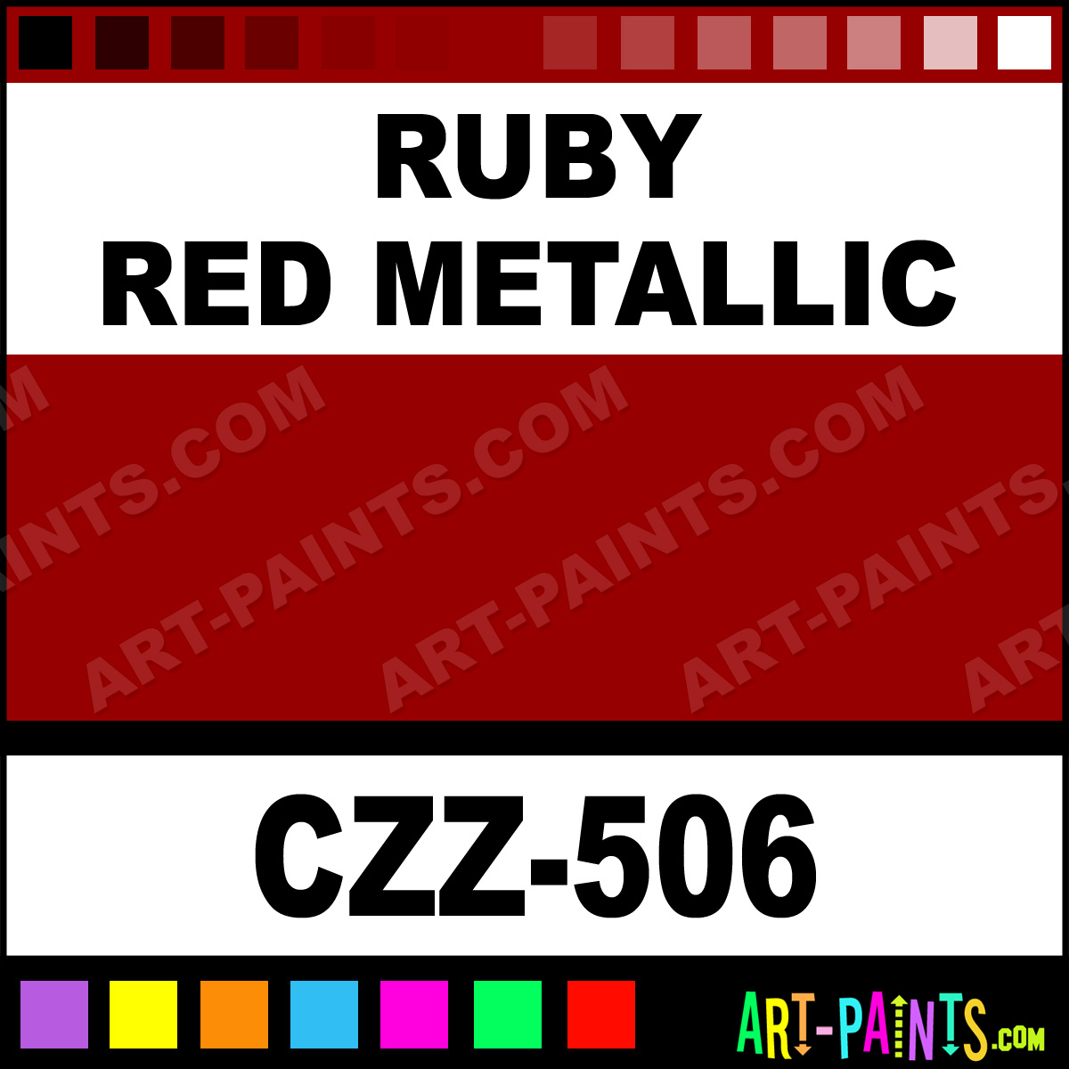 Ruby Red Metallic Cand E Z Airbrush Spray Paints Czz 506 Ruby Red Metallic Paint Ruby Red