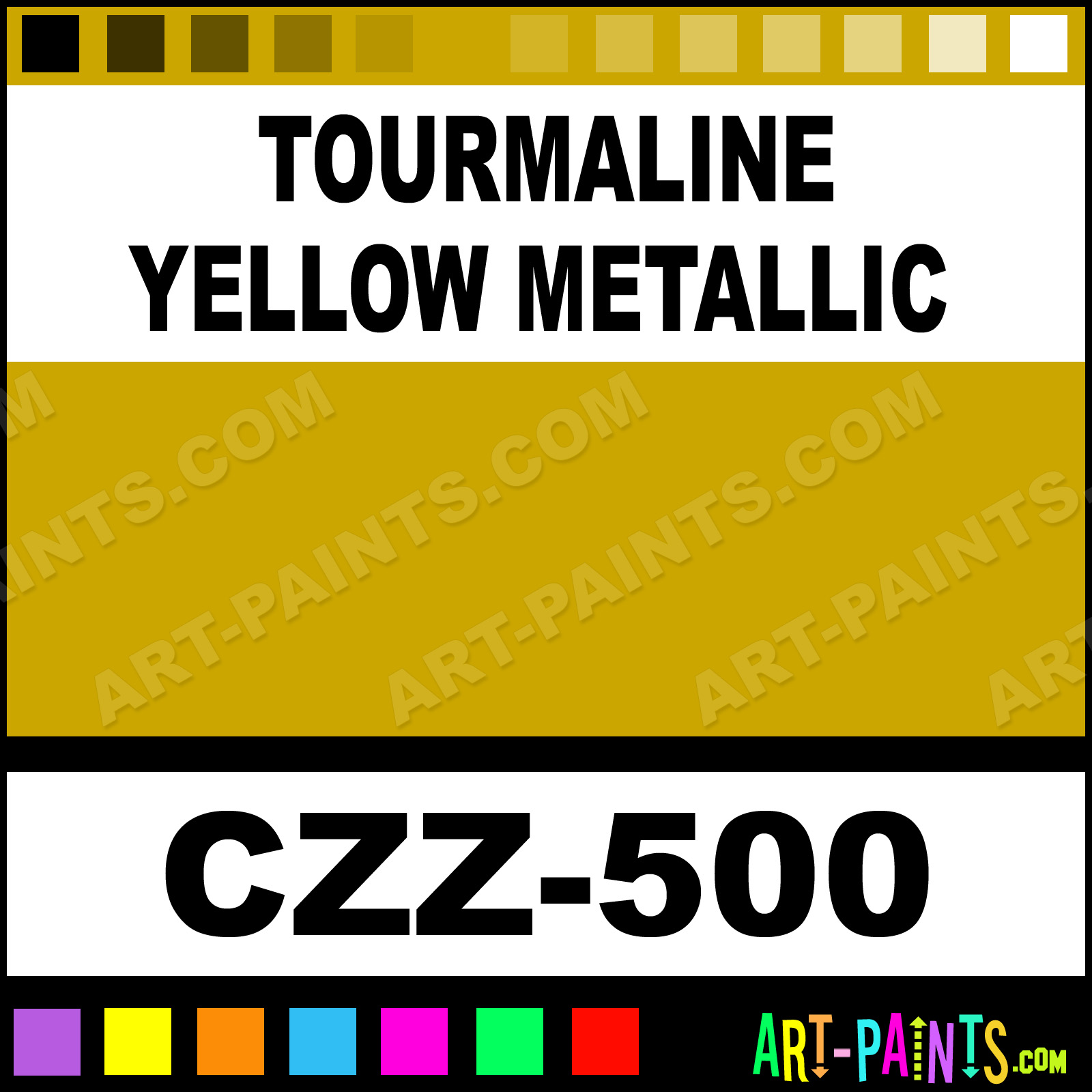 Tourmaline yellow metallic cand e z airbrush spray paints for Metallic yellow paint