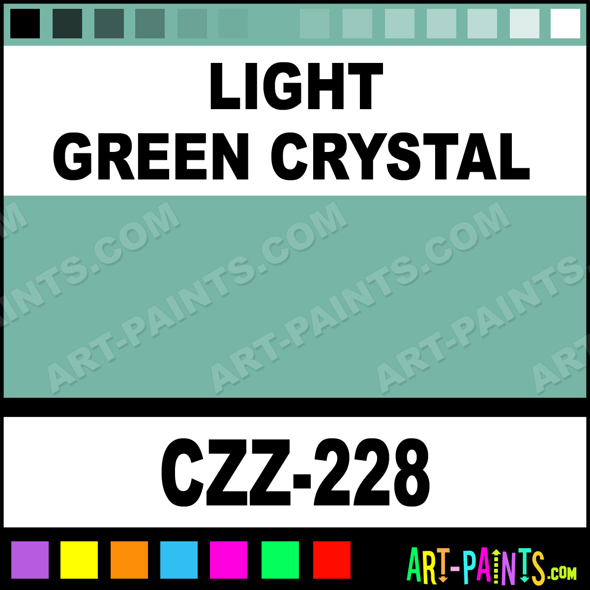 Light Green Crystal Crystals Airbrush Spray Paints Czz 228 Light Green Crystal Paint Light