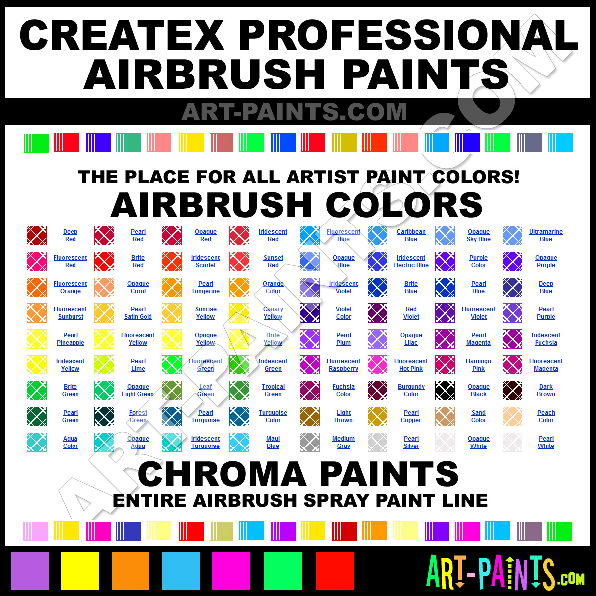 Createx Professional Airbrush Spray Paint Colors Createx