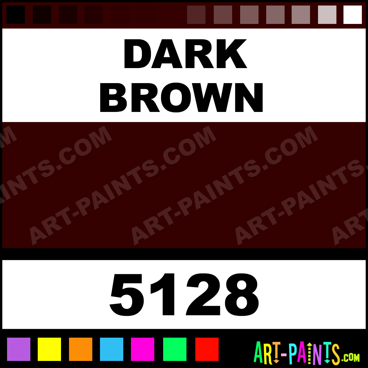 Dark Brown Professional Airbrush Spray Paints 5128