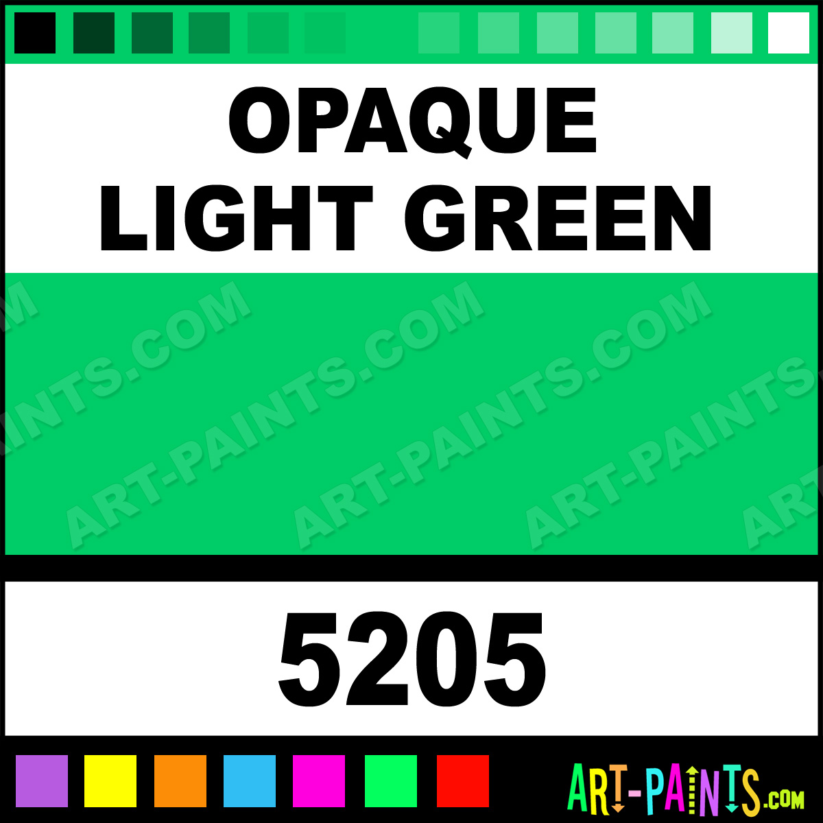 Opaque Light Green Professional Airbrush Spray Paints 5205 Opaque Light Green Paint Opaque