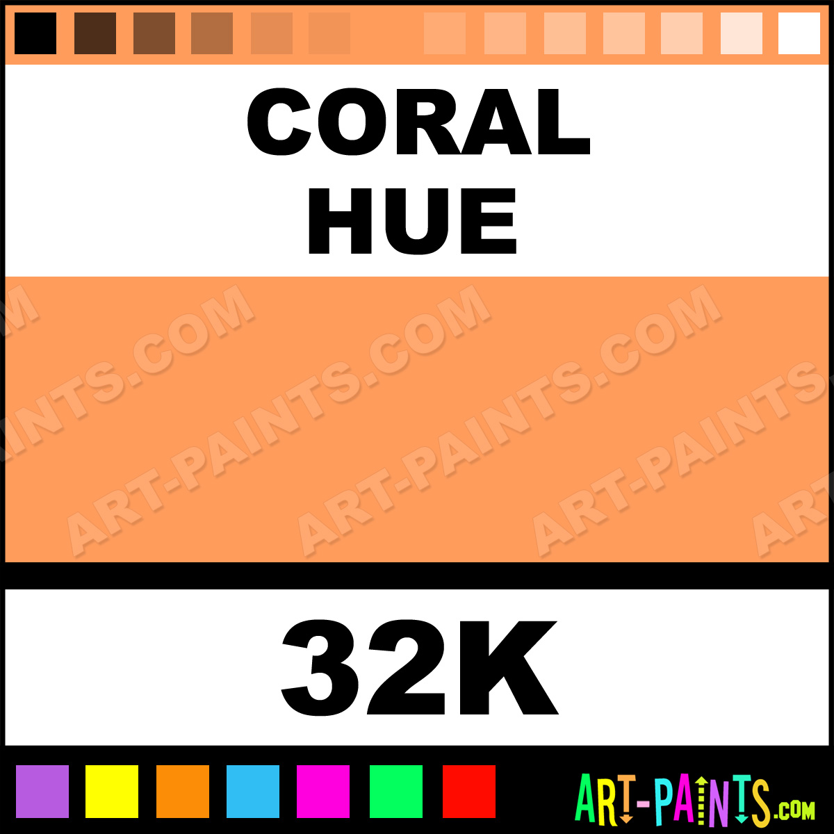 Coral Spectralite Airbrush Spray Paints - 32K - Coral ...