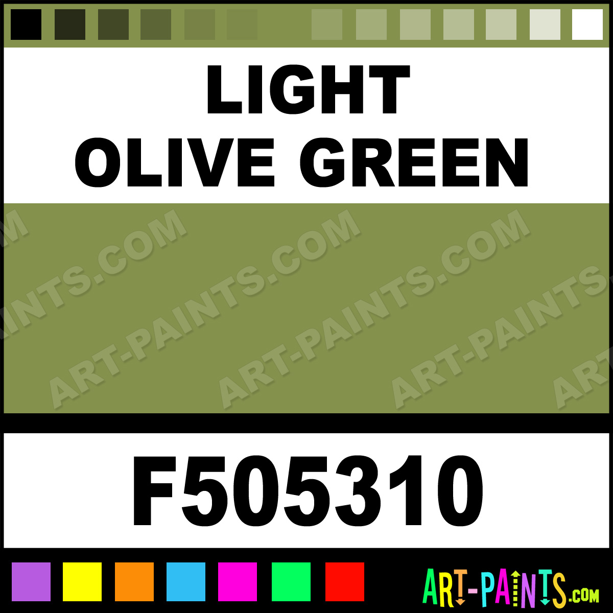 Light Olive Green Military Model Airbrush Spray Paints F505310 Light Olive Green Paint