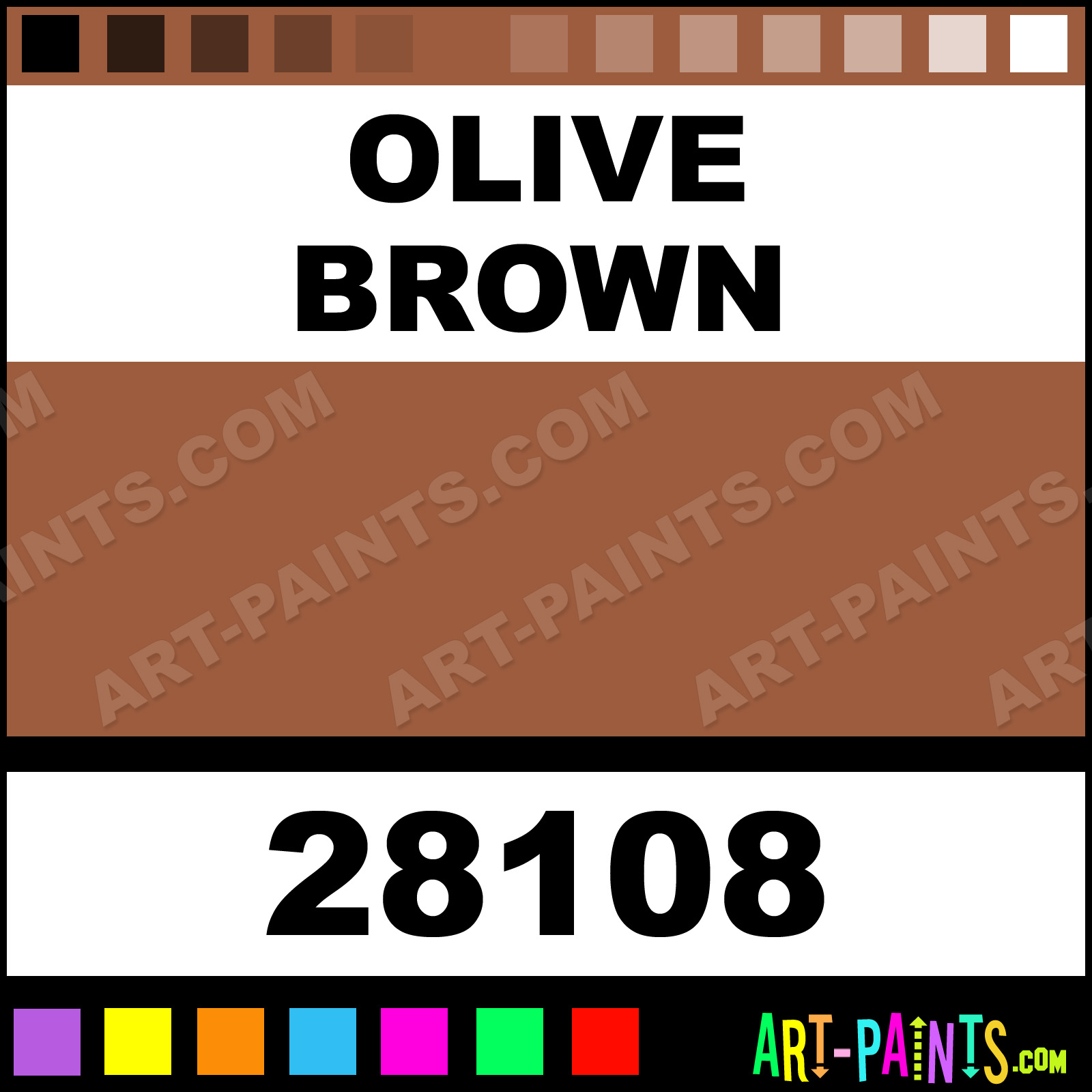 Graftobian Paints Olive Brown Artist Airbrush