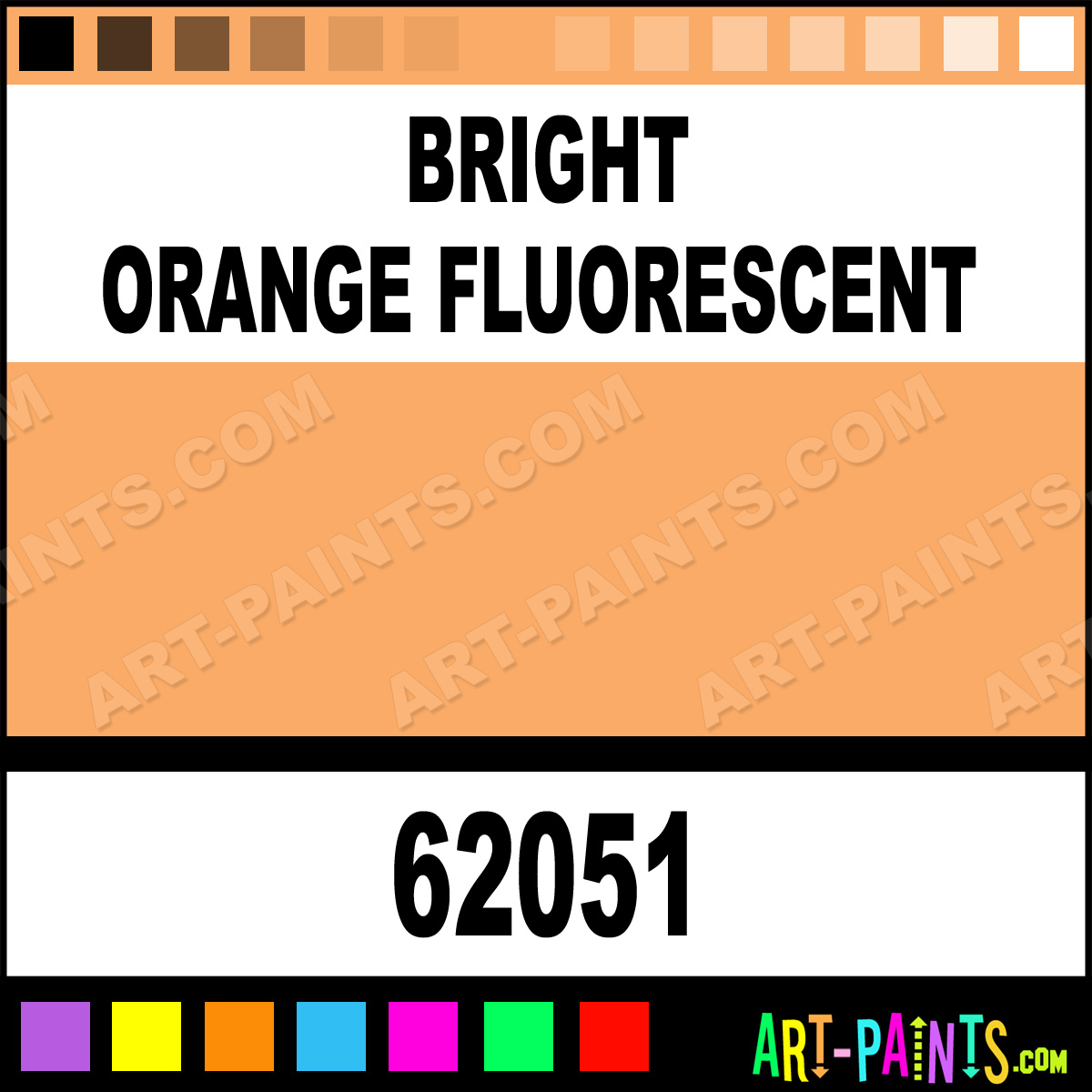 Bright Orange Fluorescent Pro Color Airbrush Spray Paints