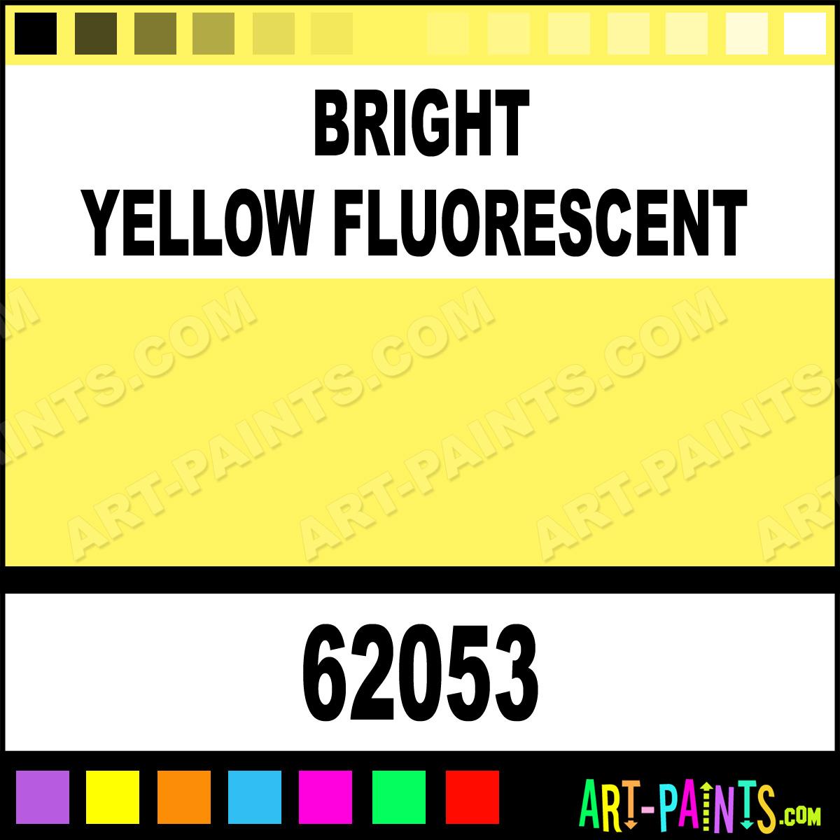 Bright Yellow Fluorescent Pro Color Airbrush Spray Paints 62053 Bright Yellow Fluorescent