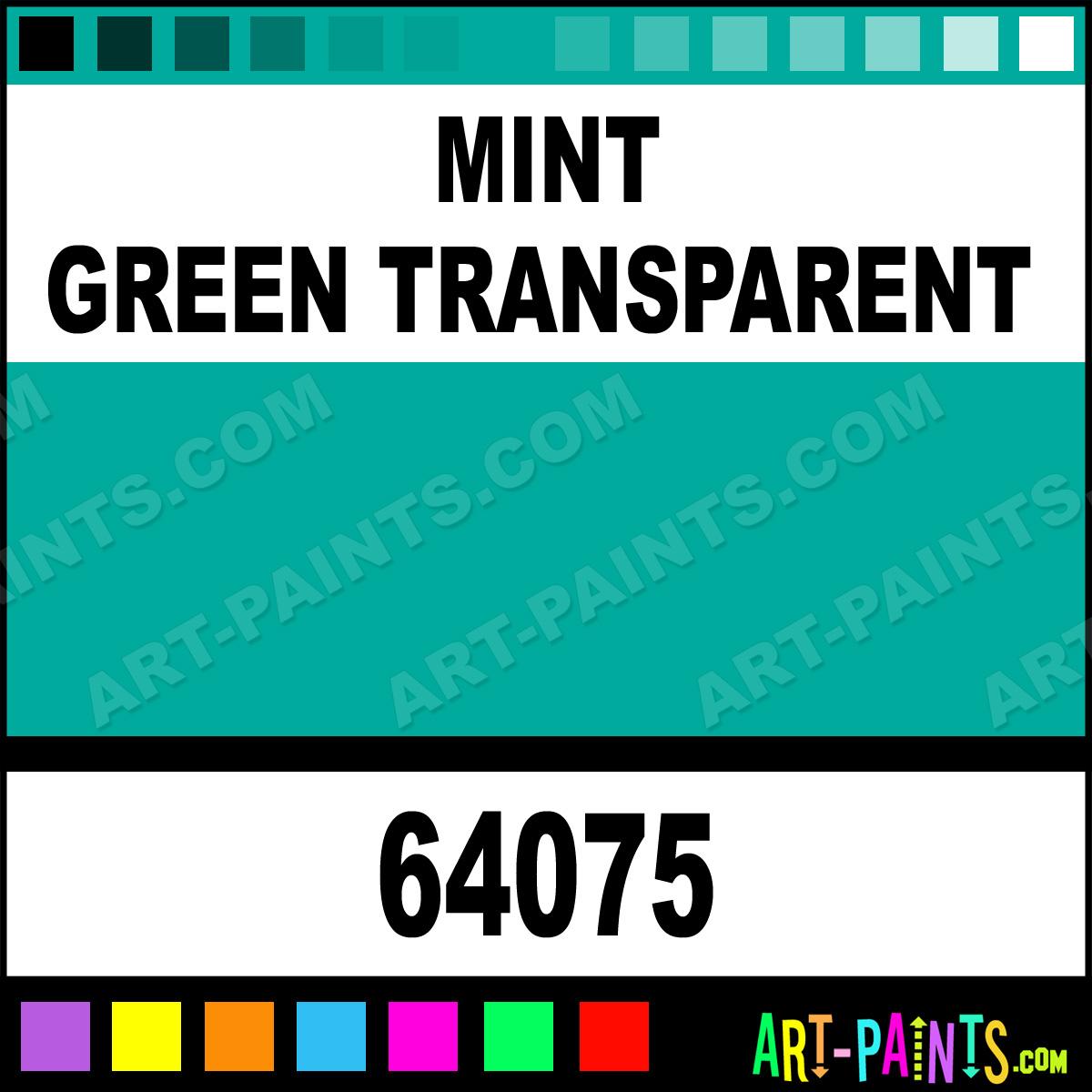 64075 mint green transparent paint mint green transparent color
